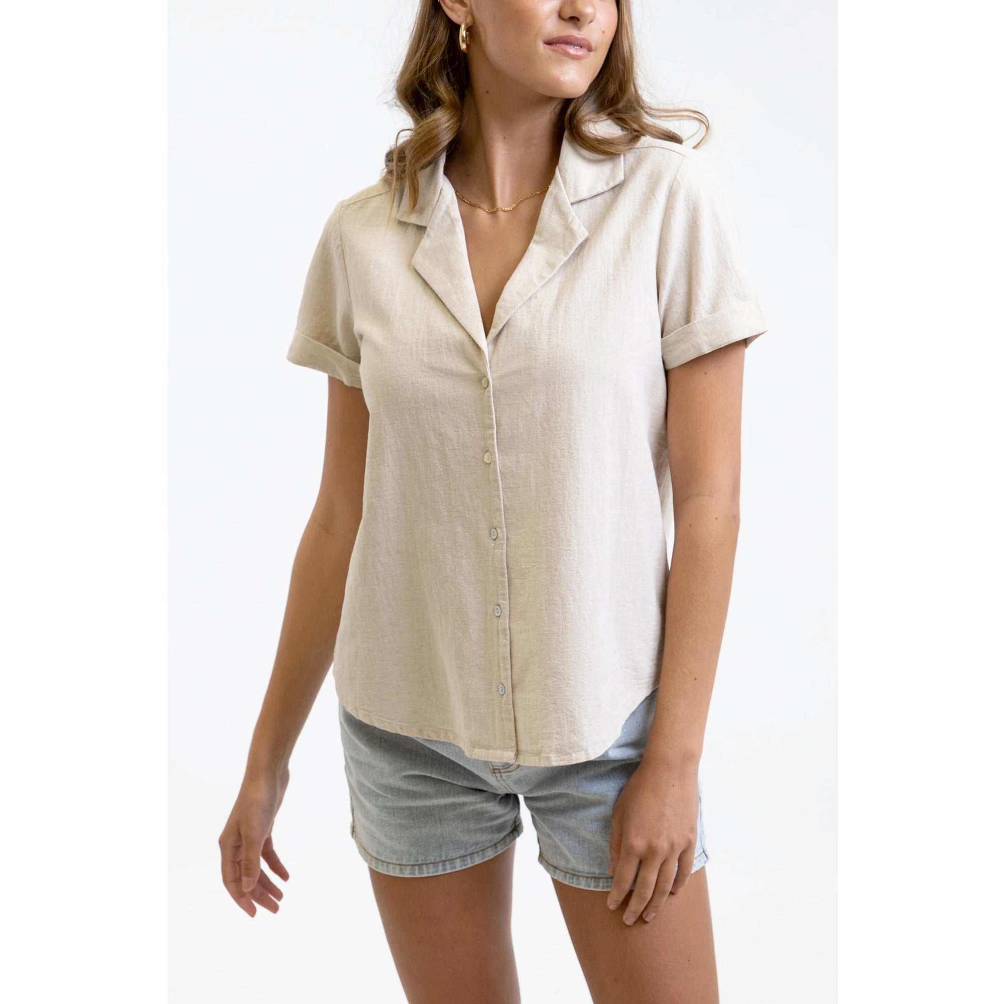 Rhythm Classic Short Sleeve Women's Dress Shirt