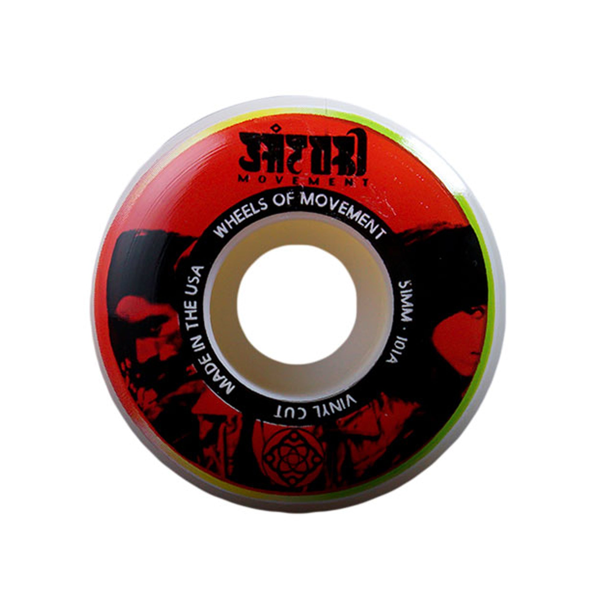 Satori Vinyl 51mm 101a Skateboard Wheels - Red