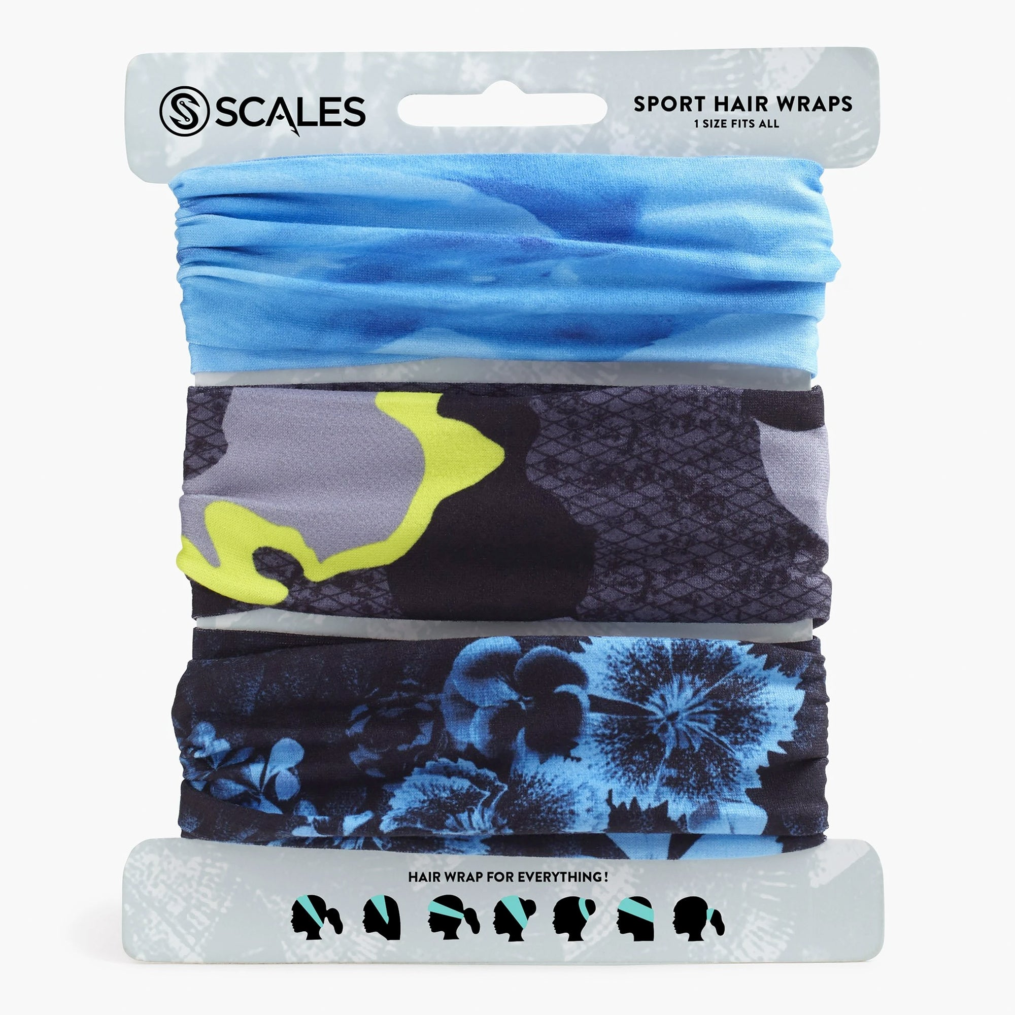Scales Sport Hair Wrap Combo Pack - Island Vibe