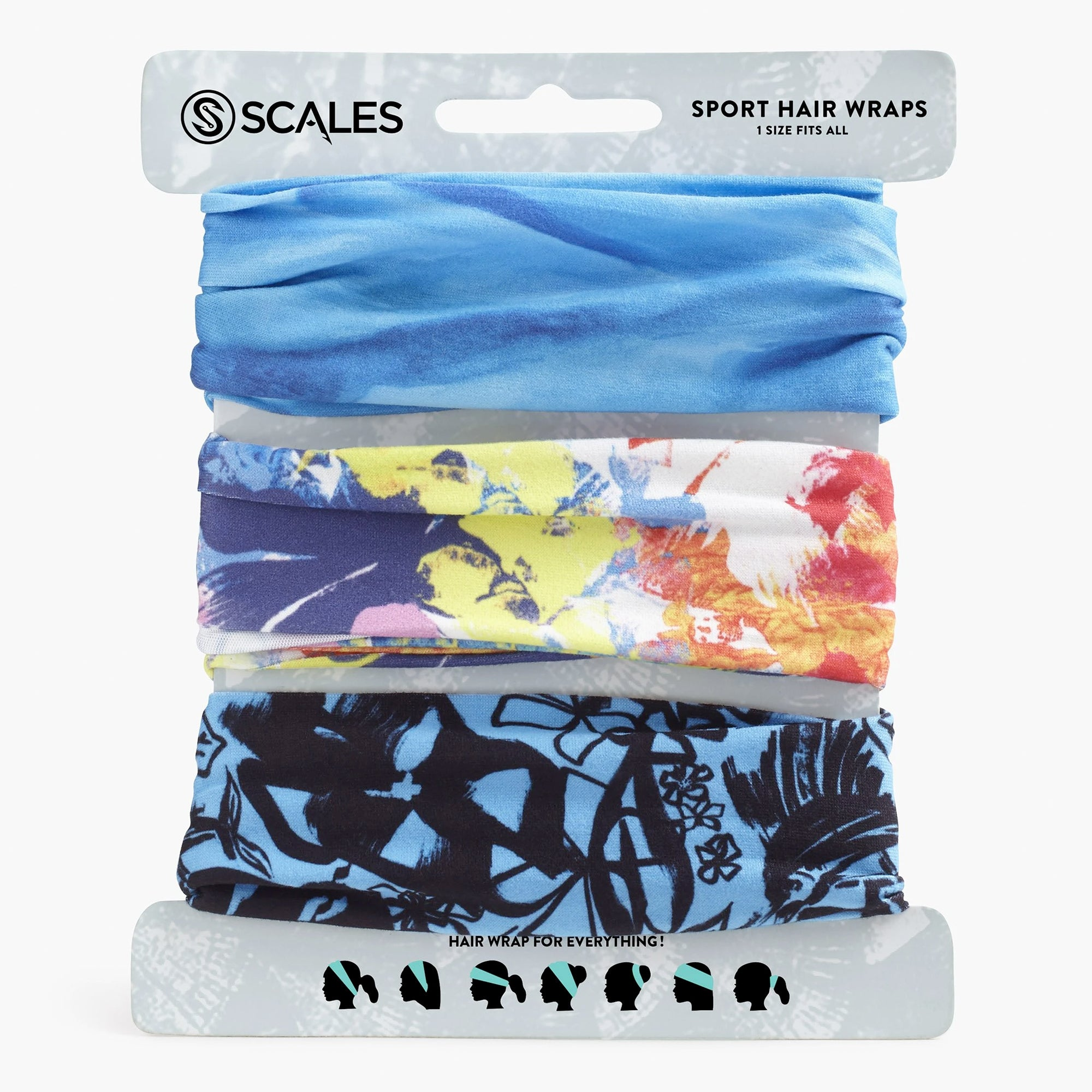 Scales Sport Hair Wrap Combo Pack - Topics
