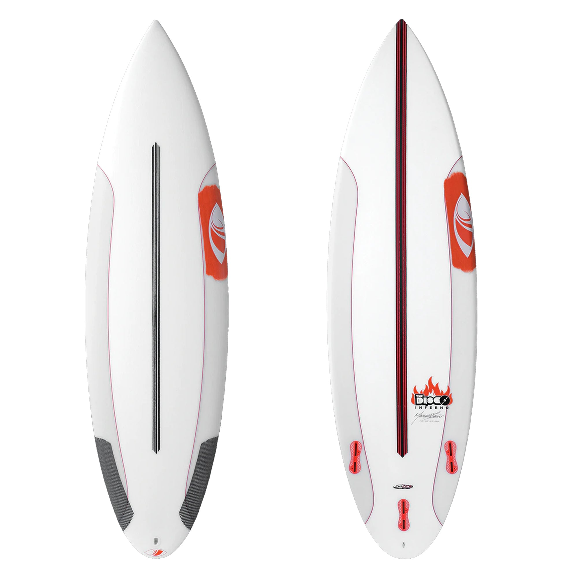 Sharp Eye Disco Inferno Fusion Dual-Core Surfboard - FCS II