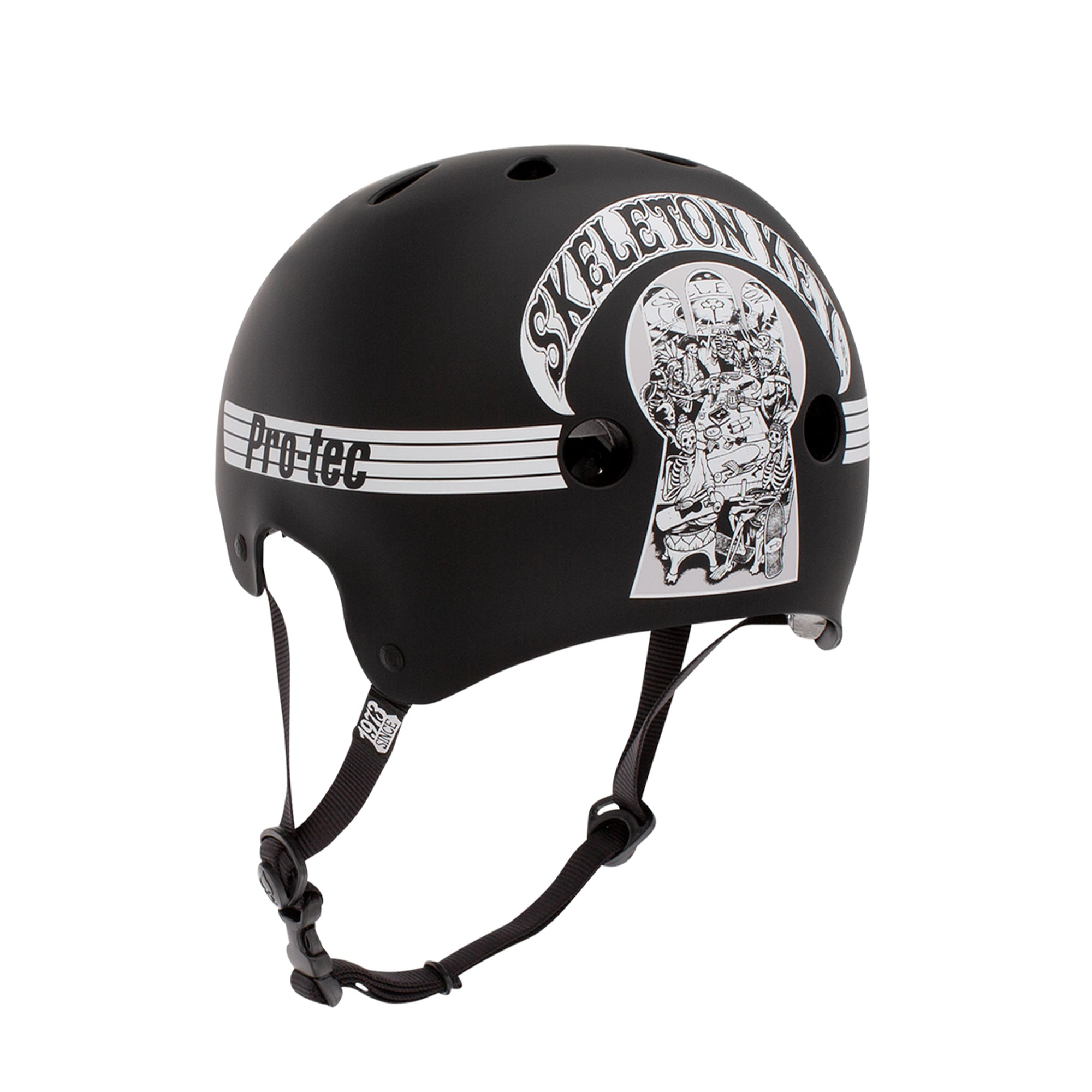 Pro-Tec Classic Old School Skate Helmet Skeleton Key - Black/White