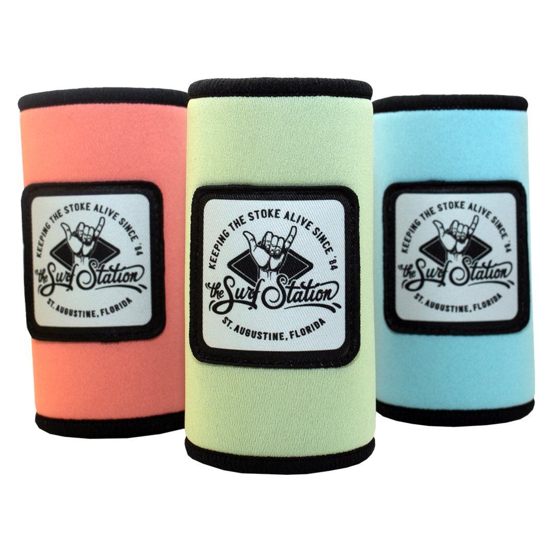 Surf Station Stoked Cruzie Neoprene Slim Can Koozie