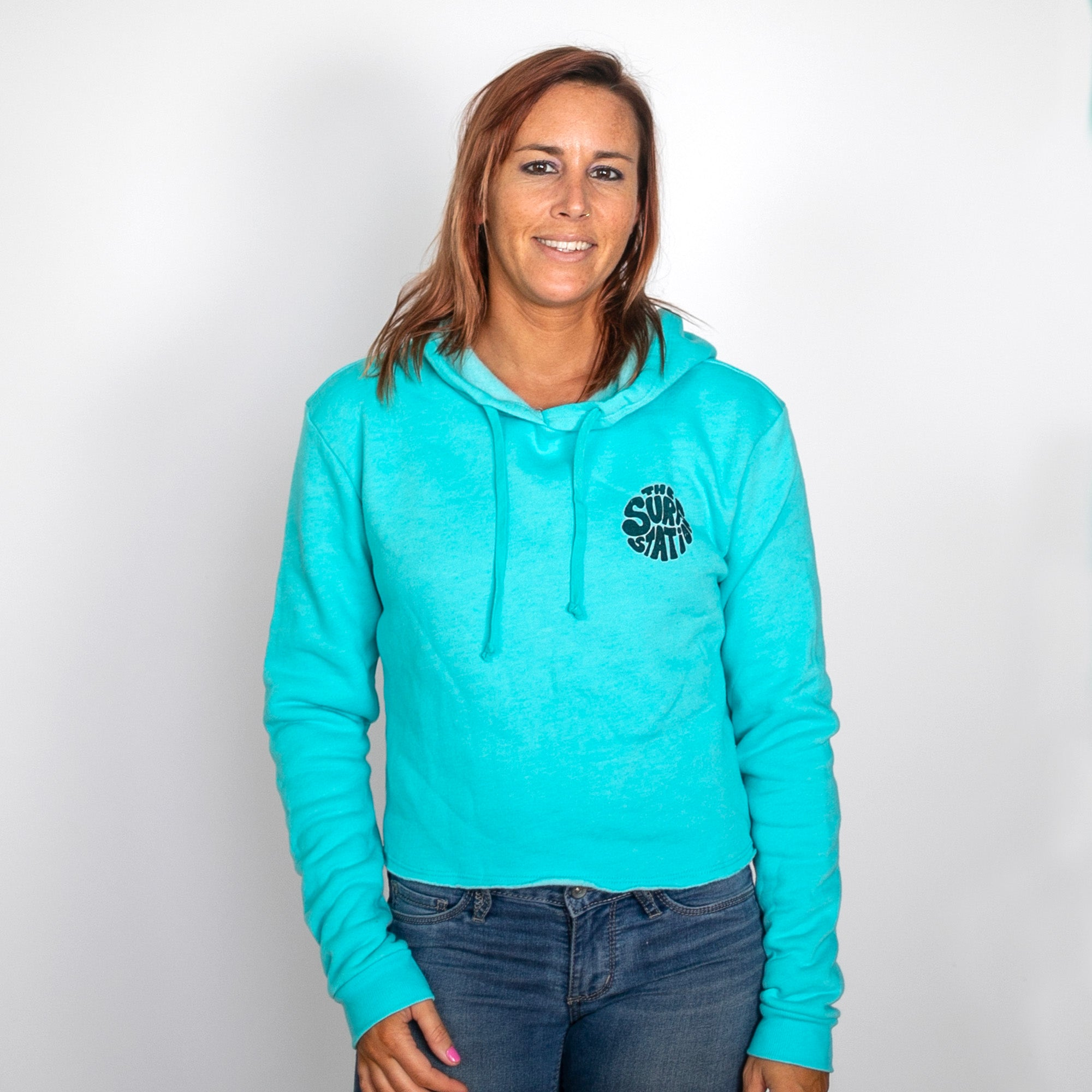 Surf Station Cassie Crop Women's Fleece Hoodie