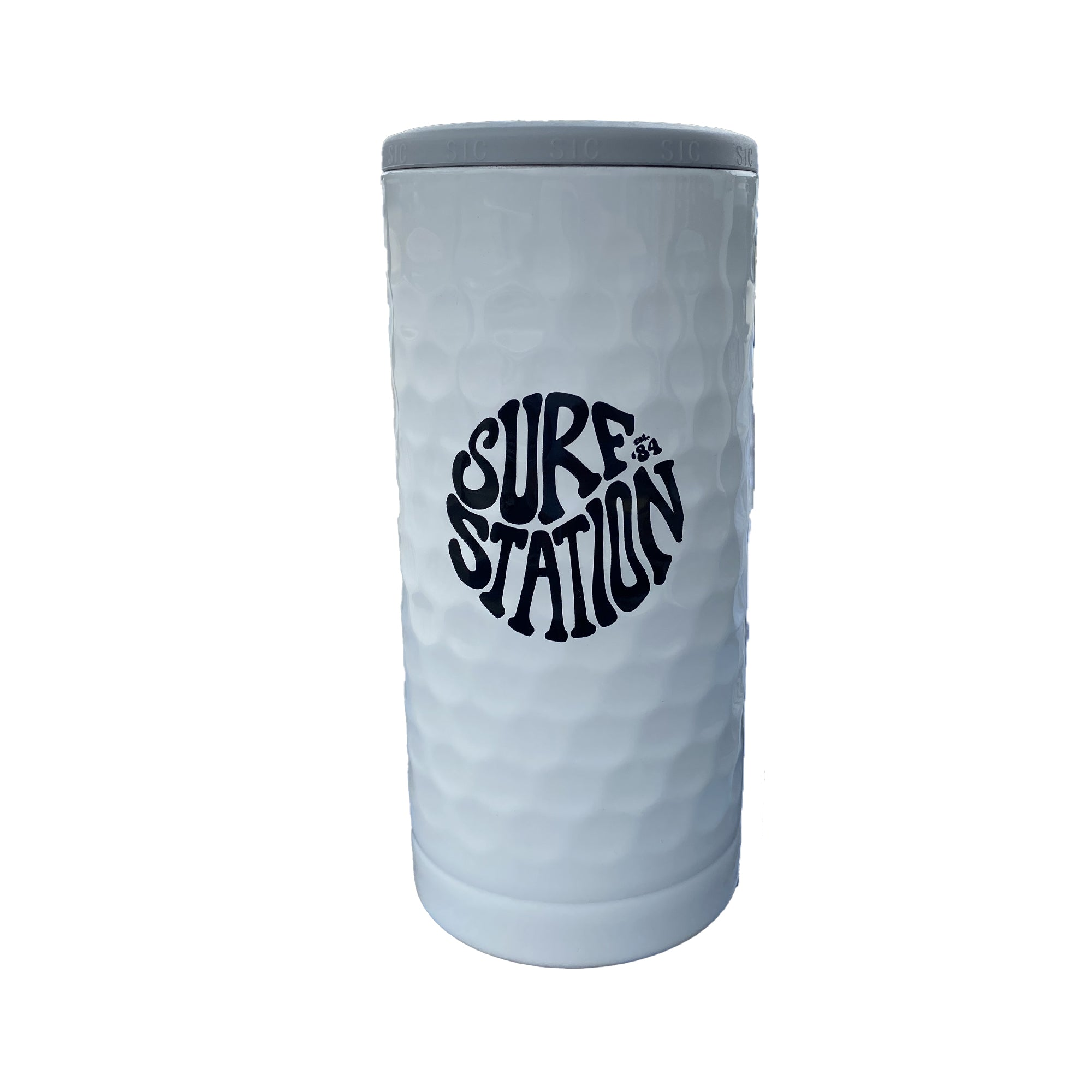 Surf Station SIC Slim Can Koozie - Dimpled Golf