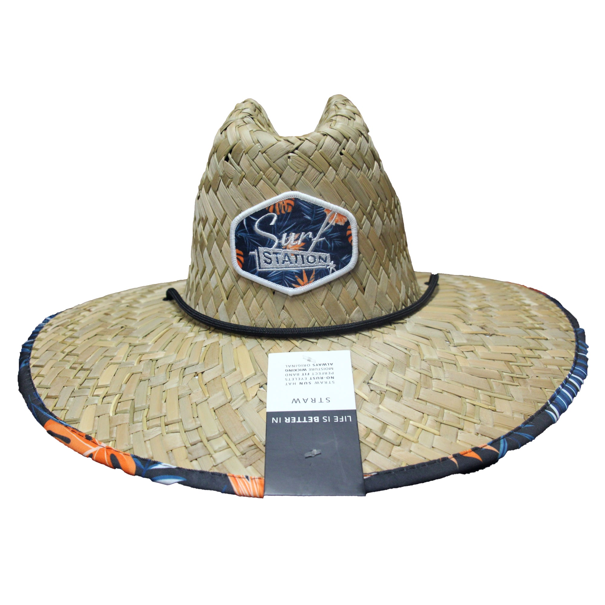 Surf Station Siesta Straw Lifeguard Hat