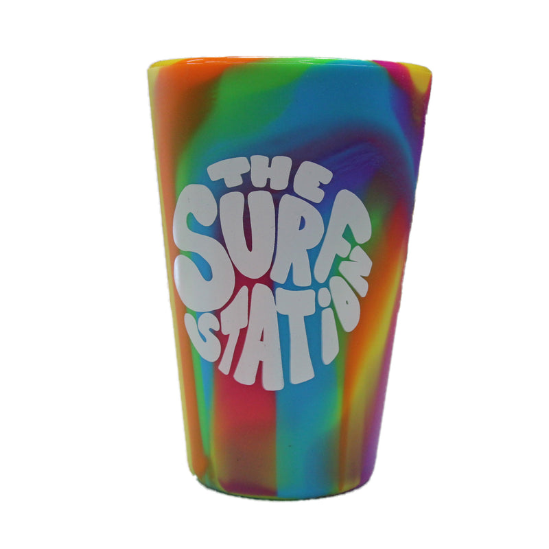 SiliPint 16Oz Hippy Hops Pint Cup - Hippie Logo Tie-Dye