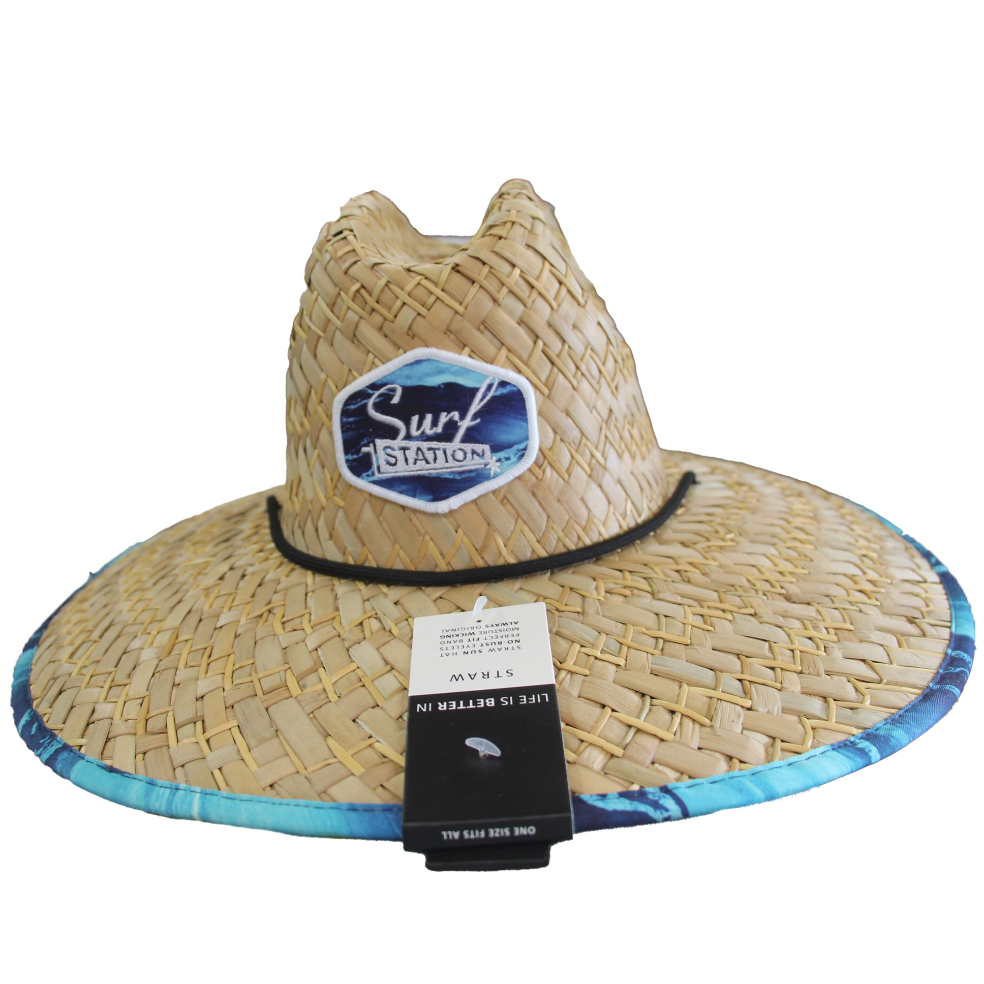 Surf Station Streaker Straw Lifeguard Hat