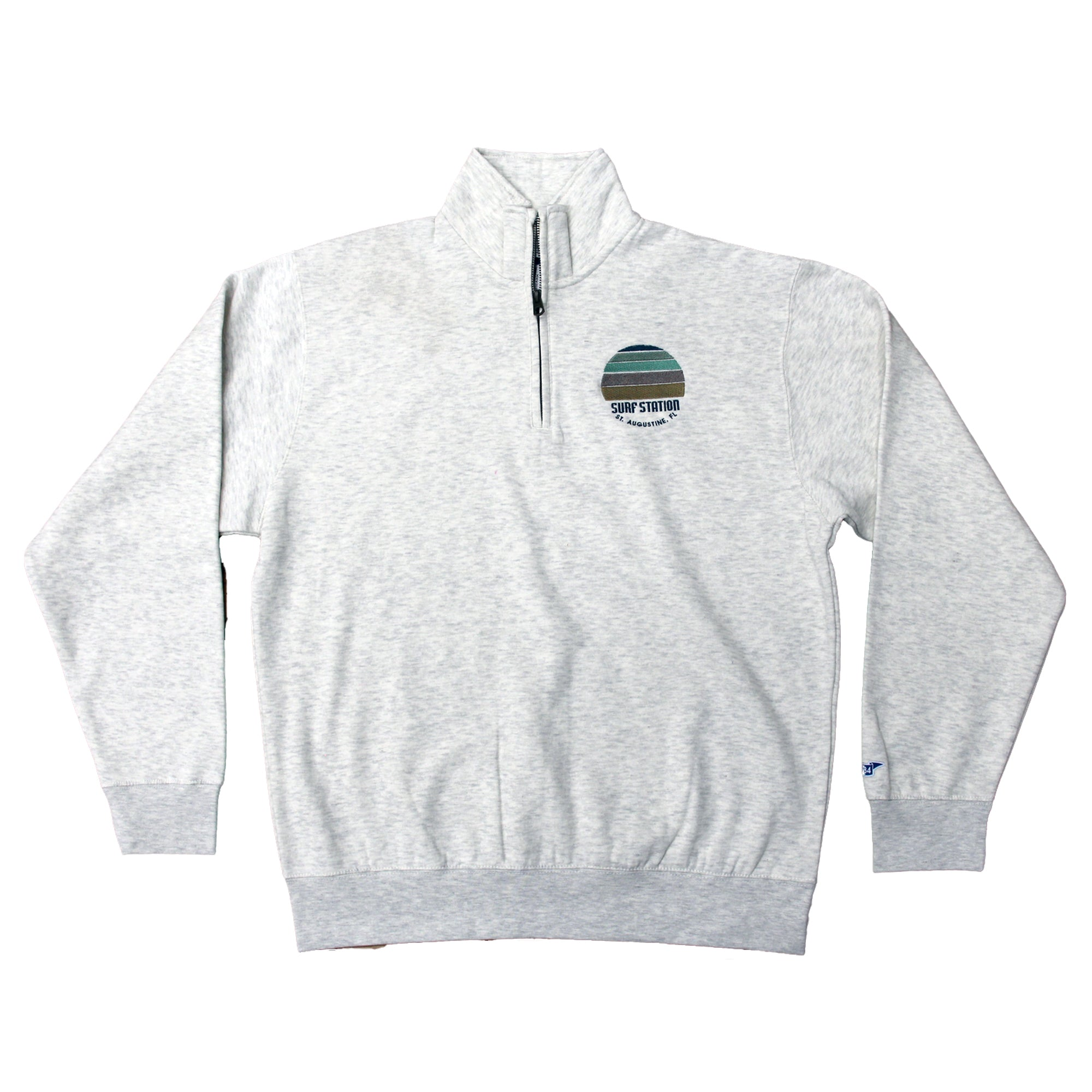 Surf Station Sunset Men's 1/4 Zip Fleece Pullover