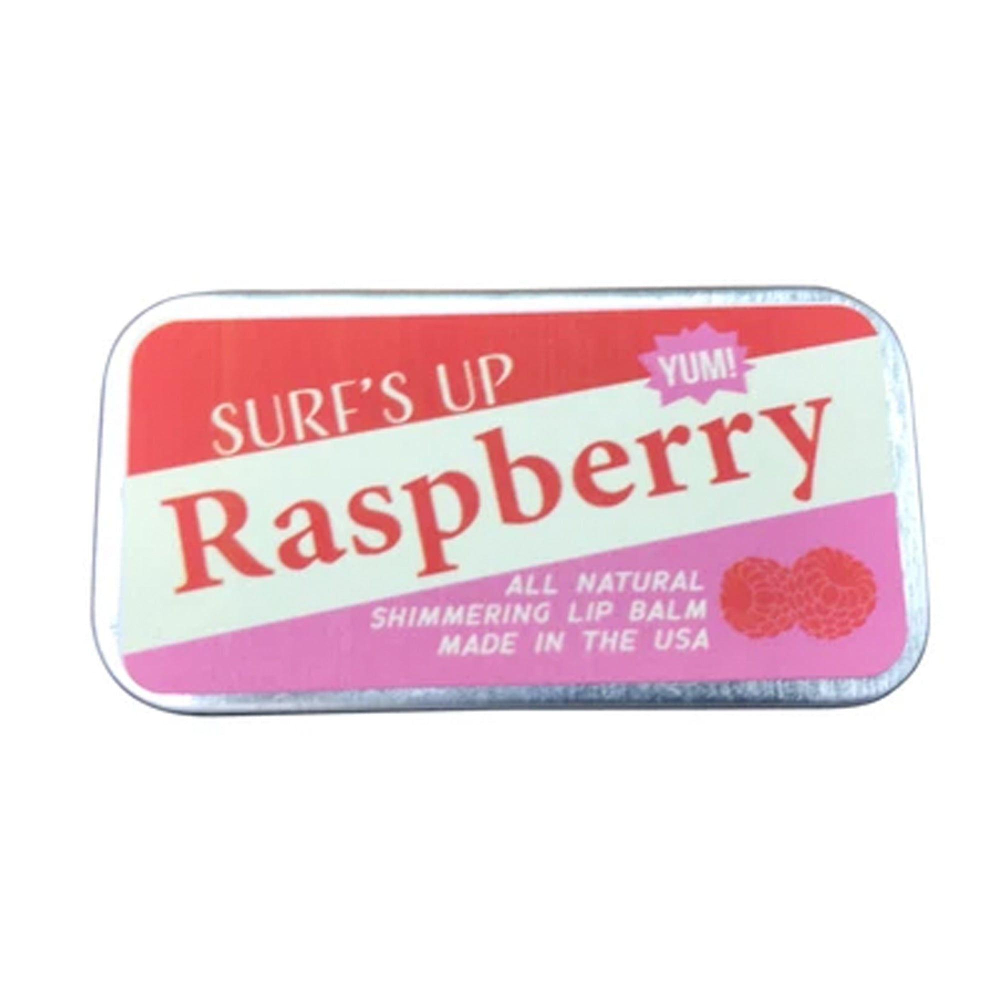 Surf's Up Raspberry Shimmering Sliding Tin Lip Balm