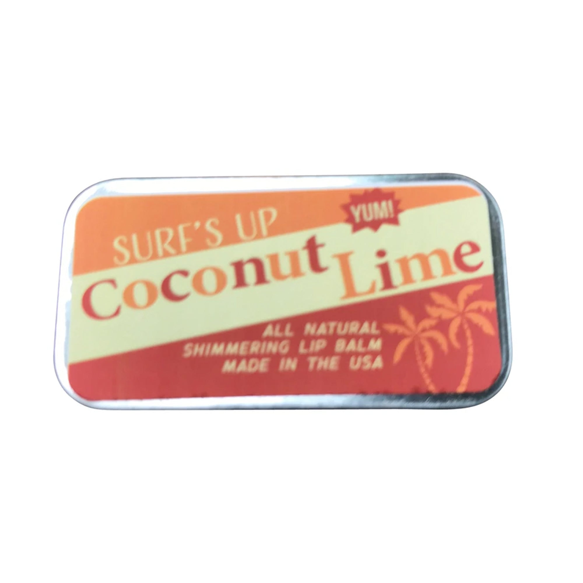 Surf's Up Coconut Lime Shimmering Sliding Tin Lip Balm
