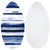 "Surface 40"" Wood Skimboard - Blue"