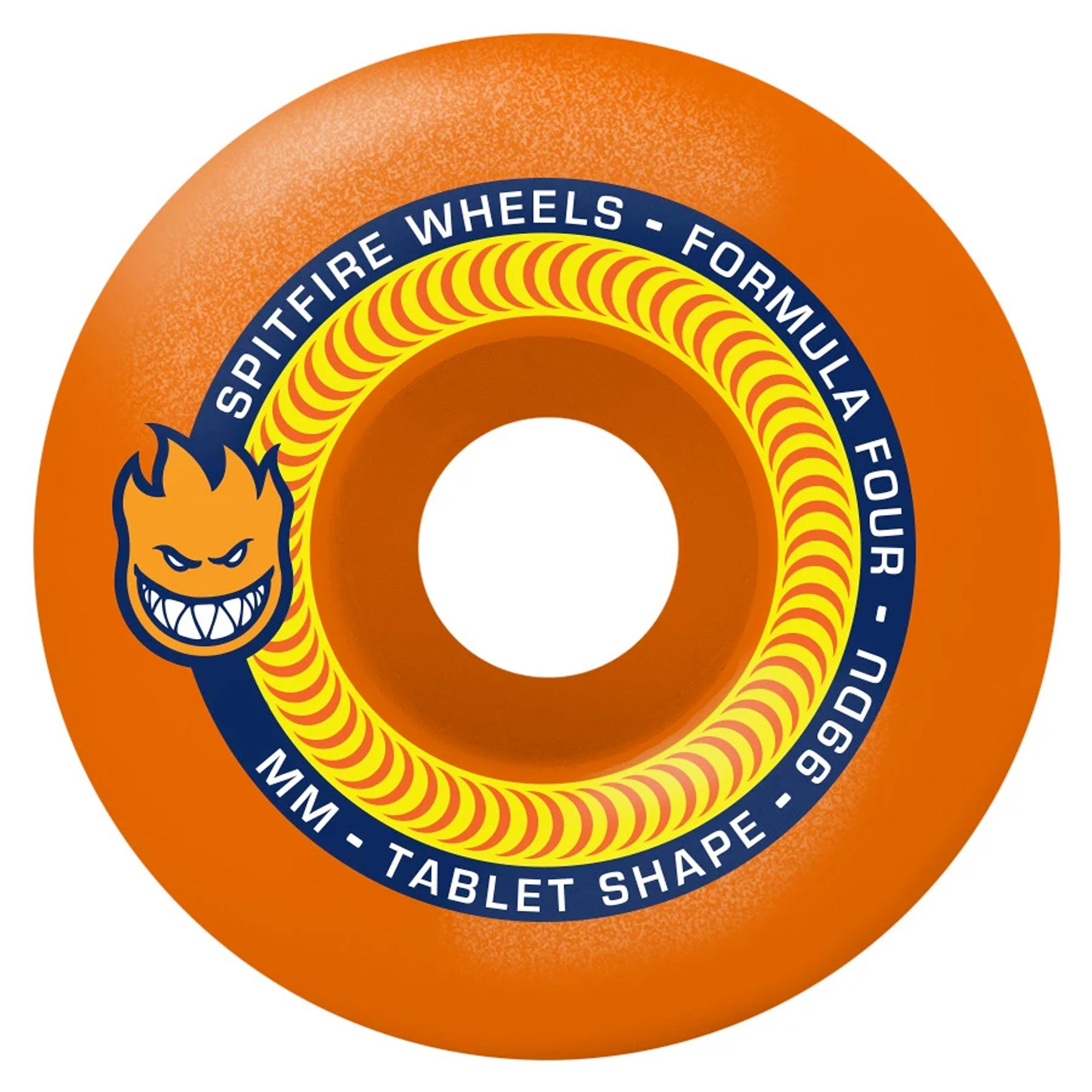 Spitfire F4 Skateboard Wheels 99a Tablets 53mm - Neon Orange