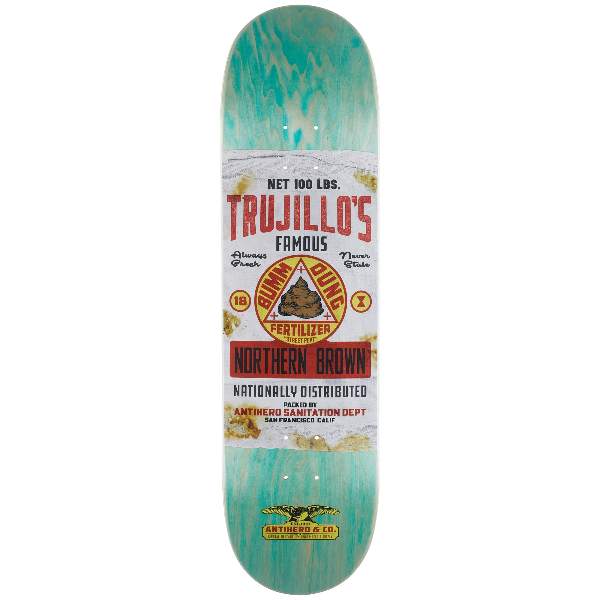 "Anti Hero Tony Trujillo General Mercantile 8.5"" Skateboard Deck"