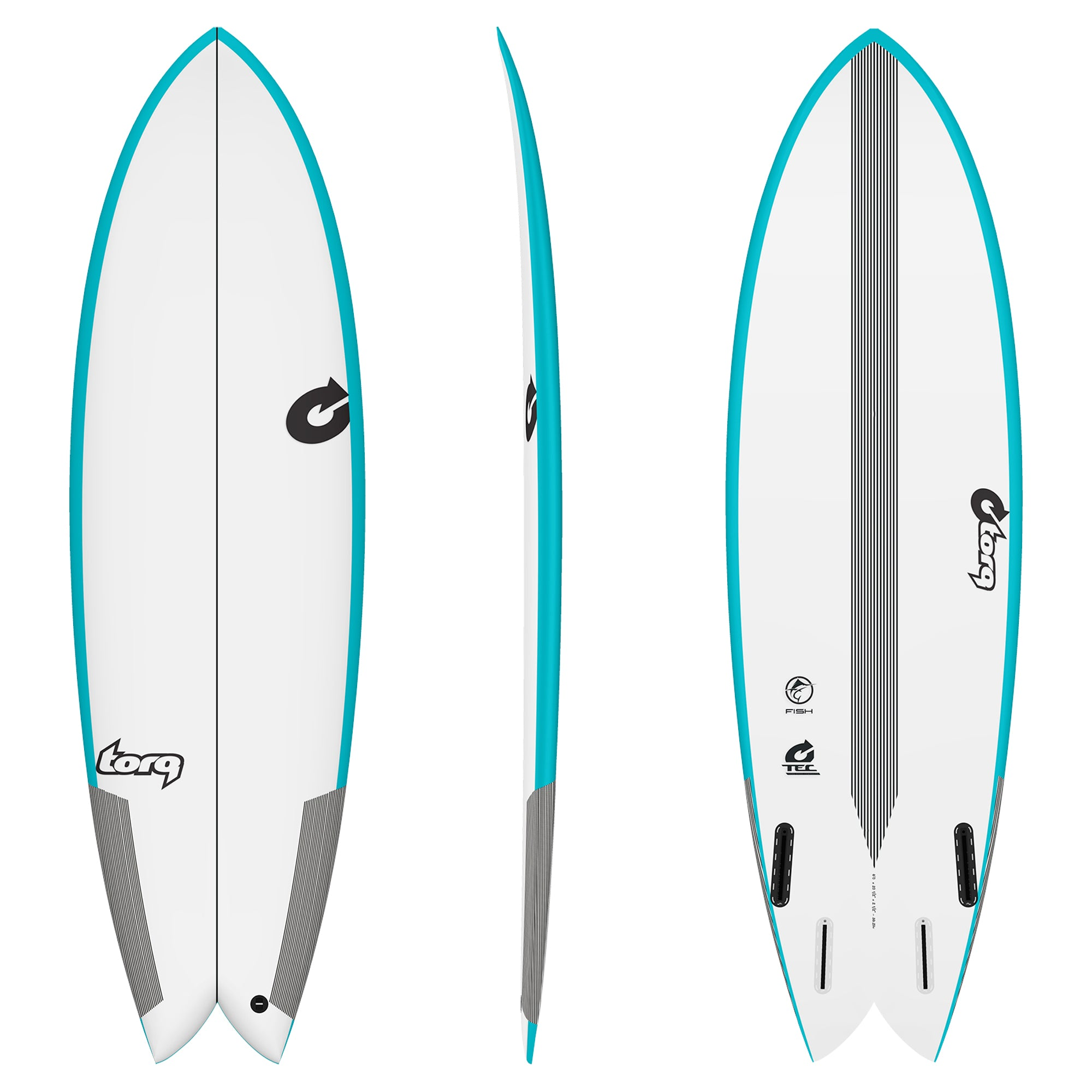 Torq Fish TEC Surfboard - Futures