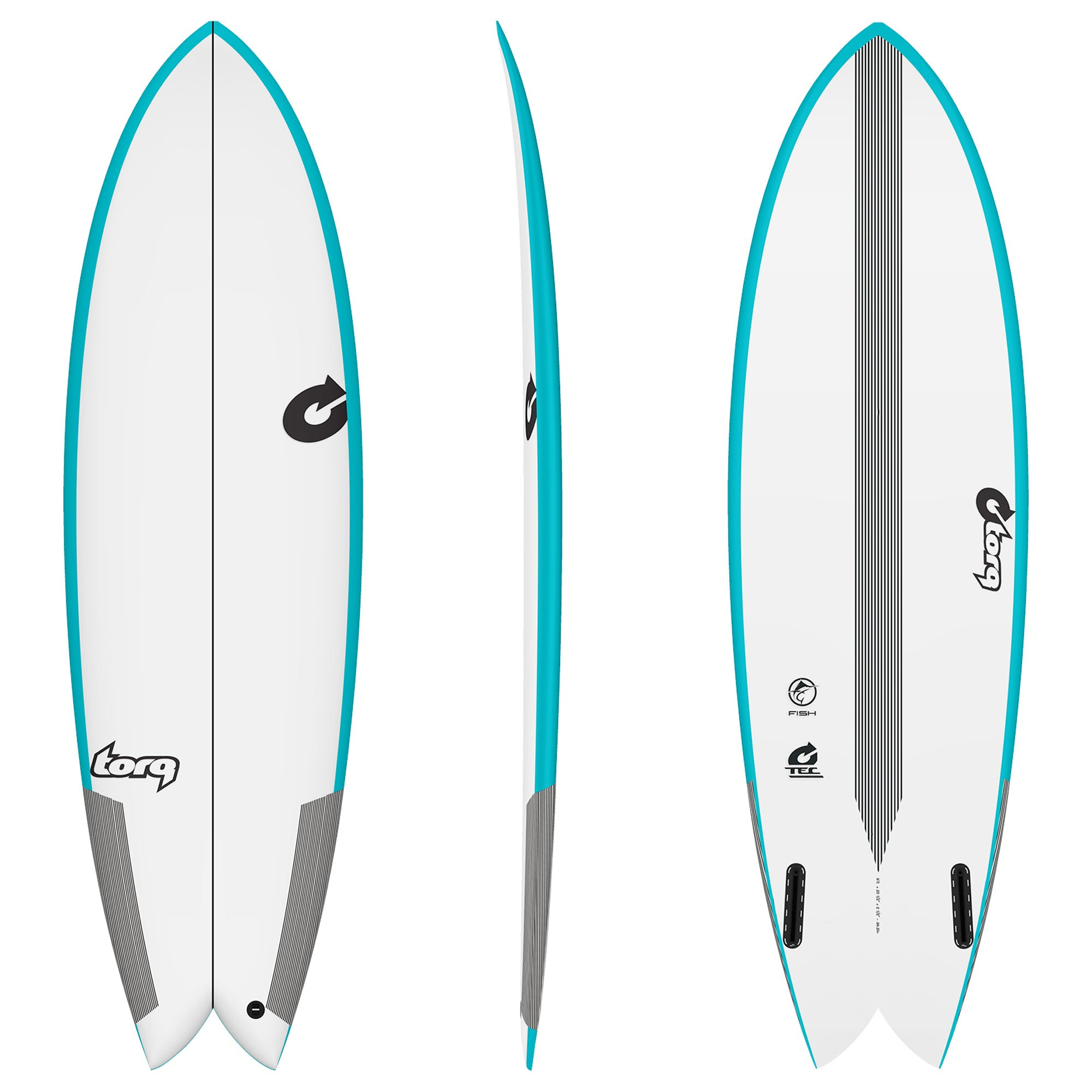 Torq Twin Fish TEC Surfboard - Futures