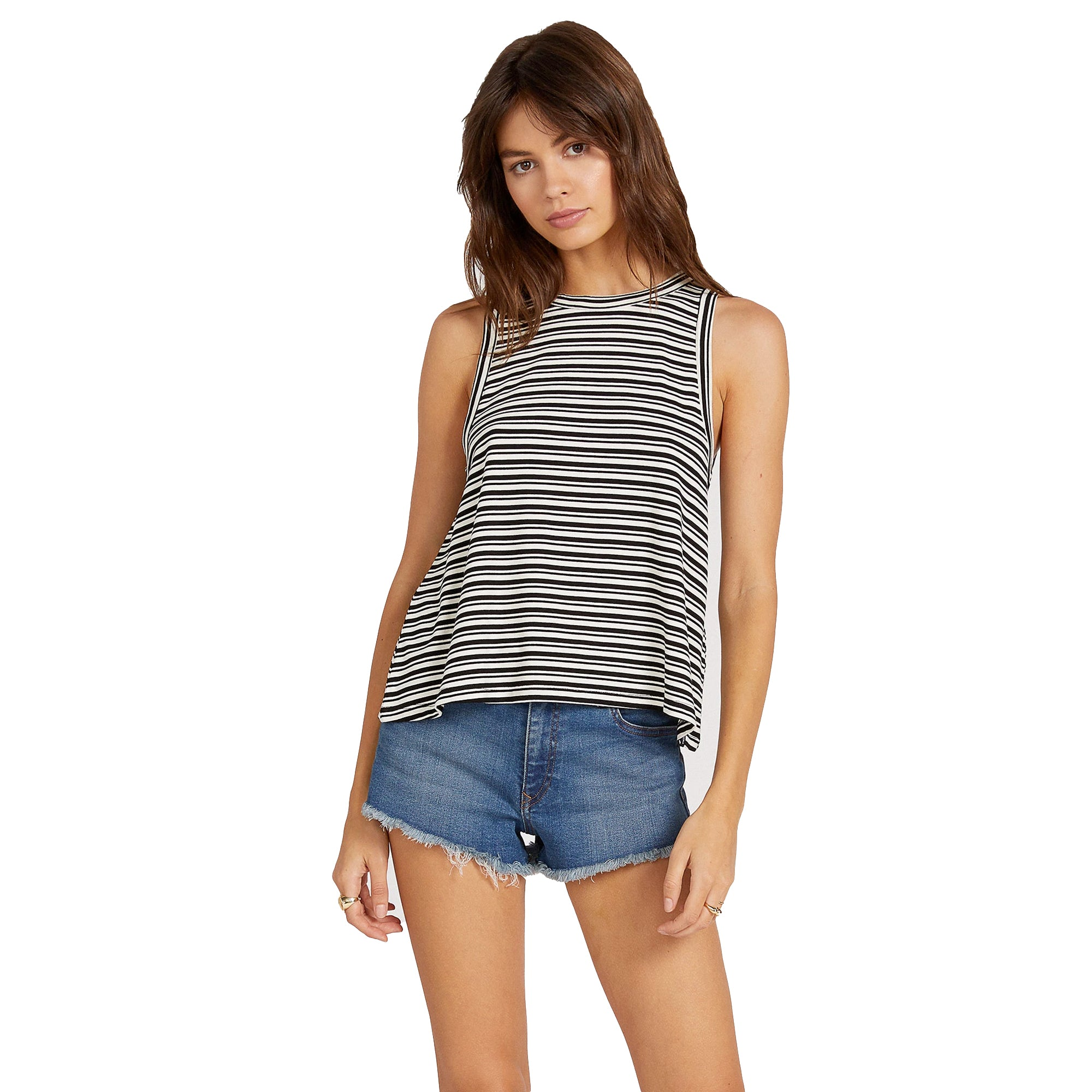 Volcom What She Said Women's Striped Tank Top