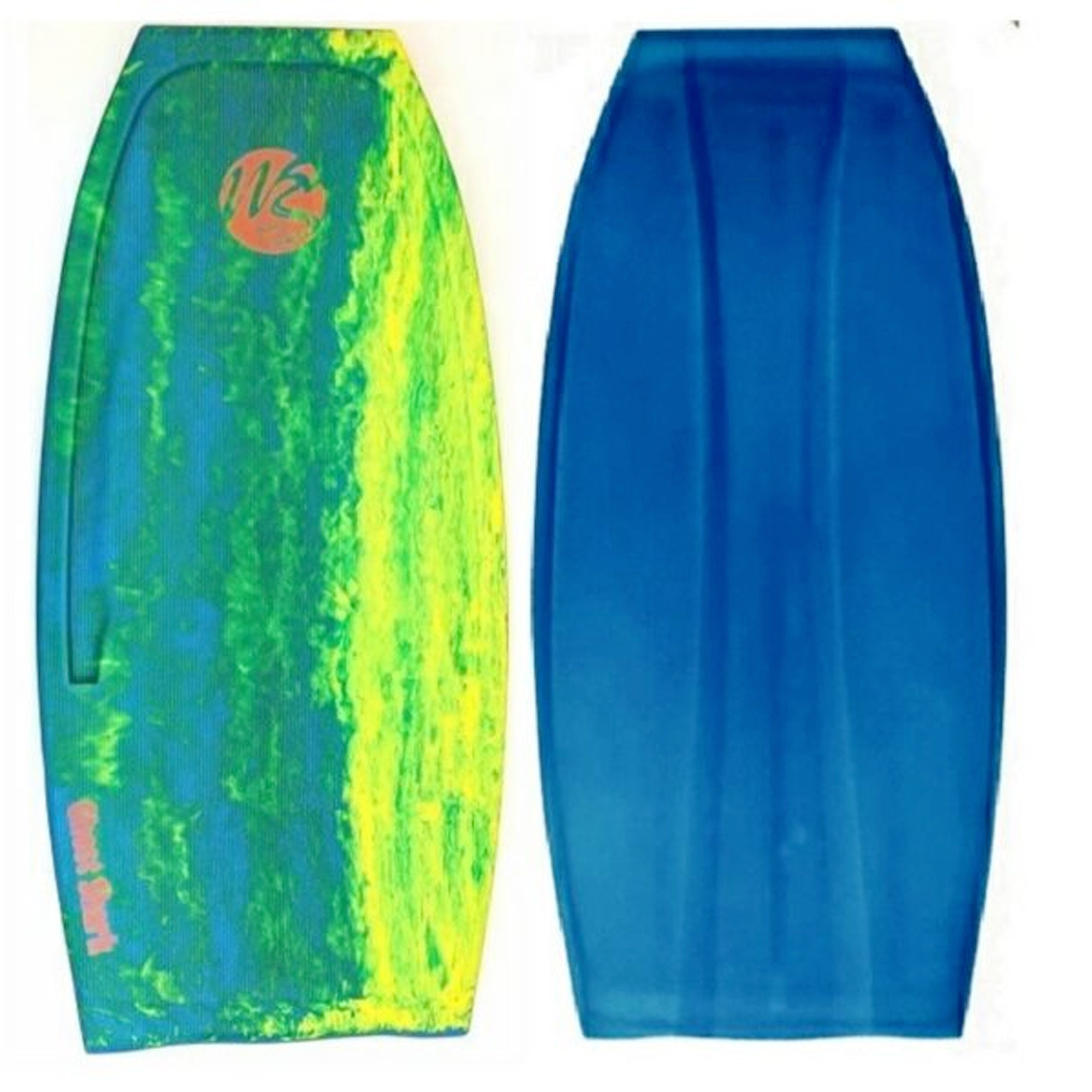 "Wave Skater Pro Ghost Shark 48"" Bodyboard - Aqua/Yellow/Lime"