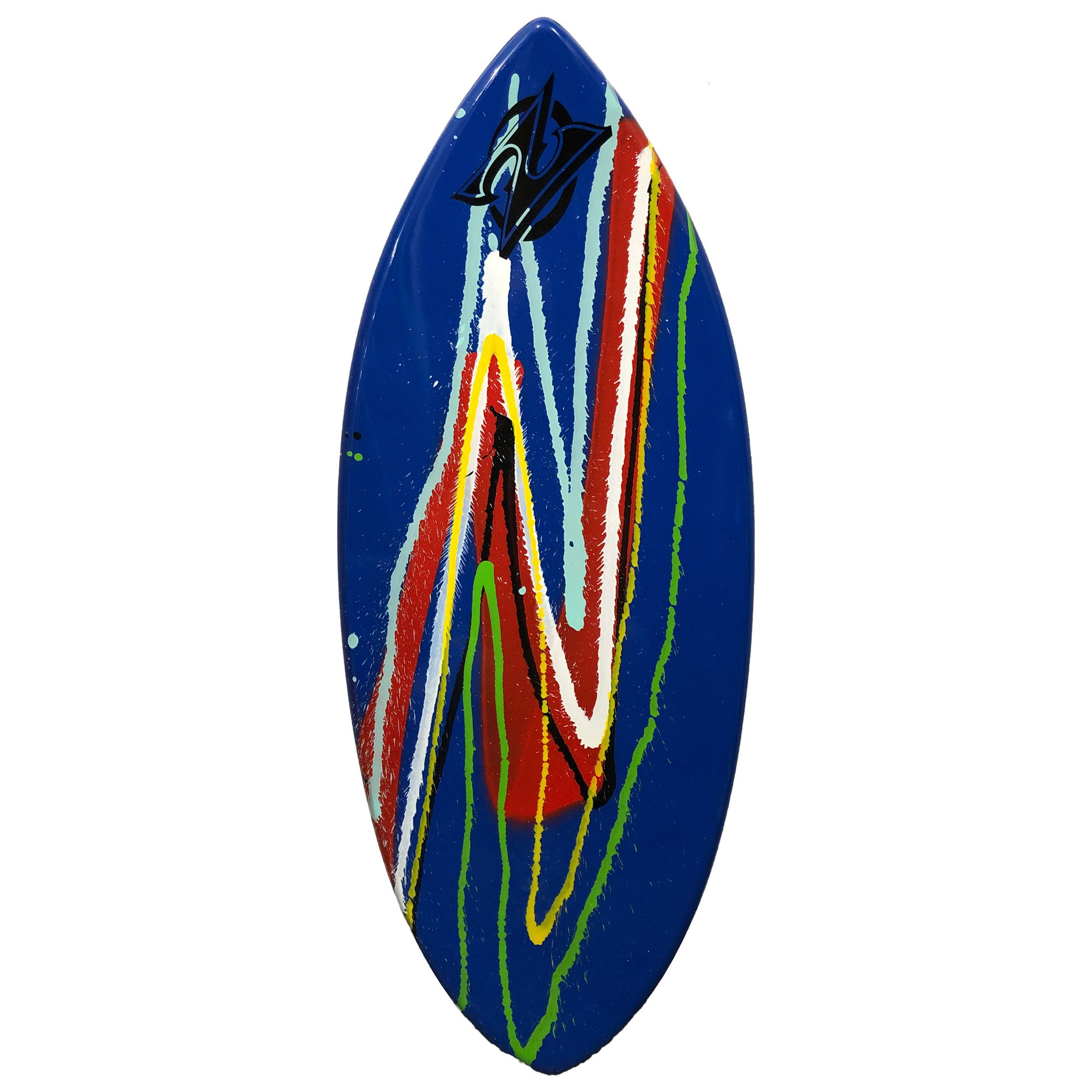 "Zap Wedge 49"" Skimboard - Blue w/ Multi Splatter"