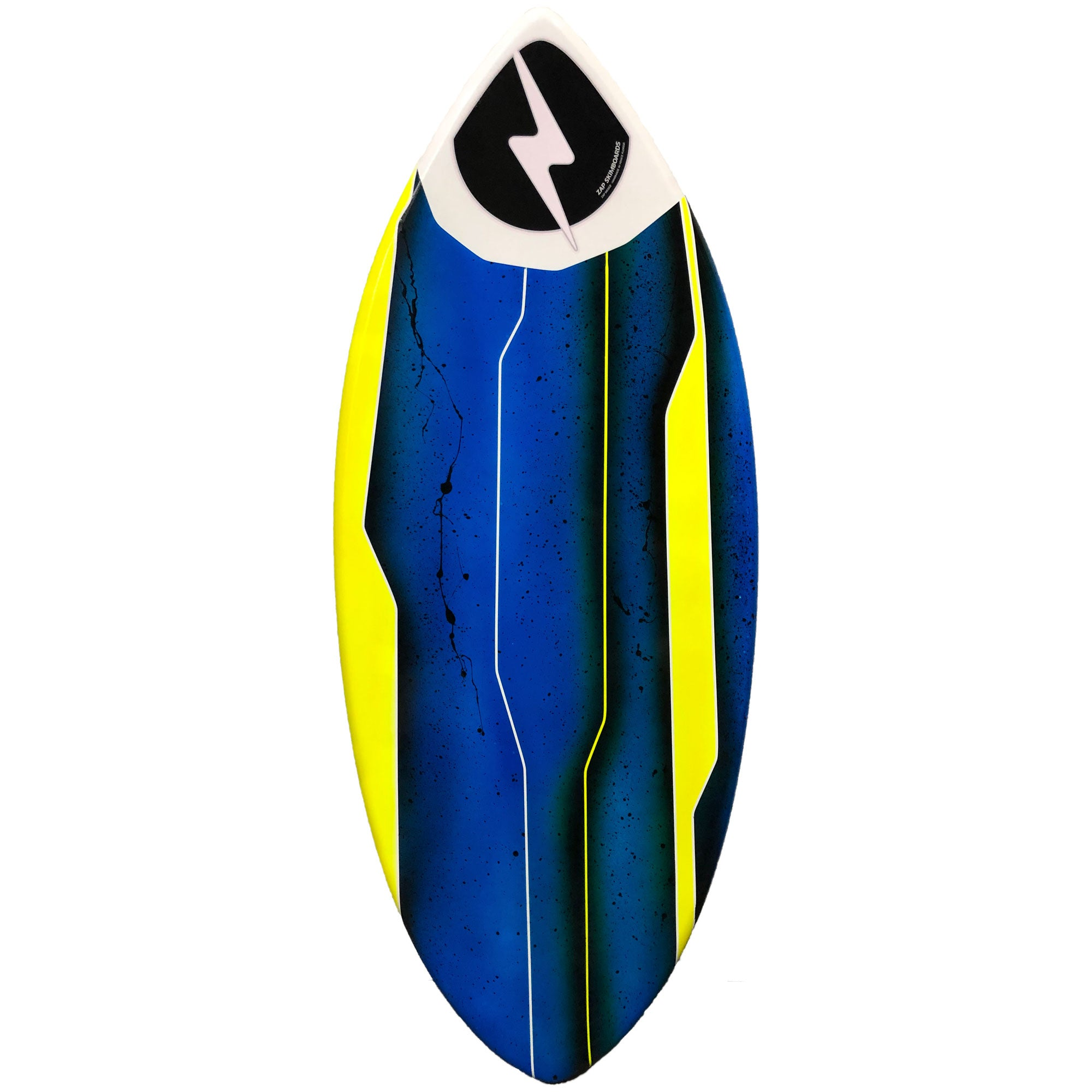 "Zap Wedge 49"" Skimboard w/ Art - Blue/Yellow"