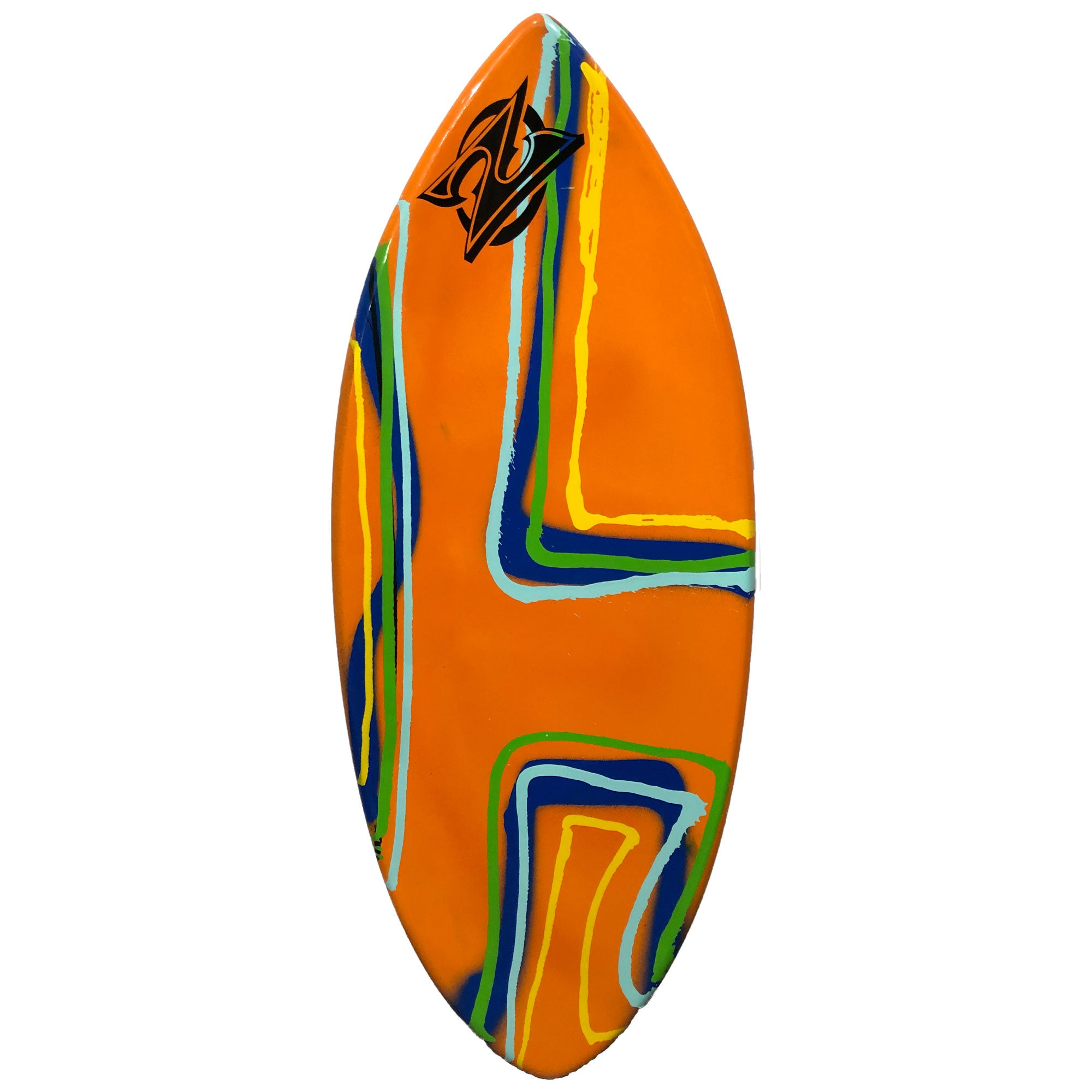 "Zap Wedge 49"" Skimboard - Orange w/ Multi"