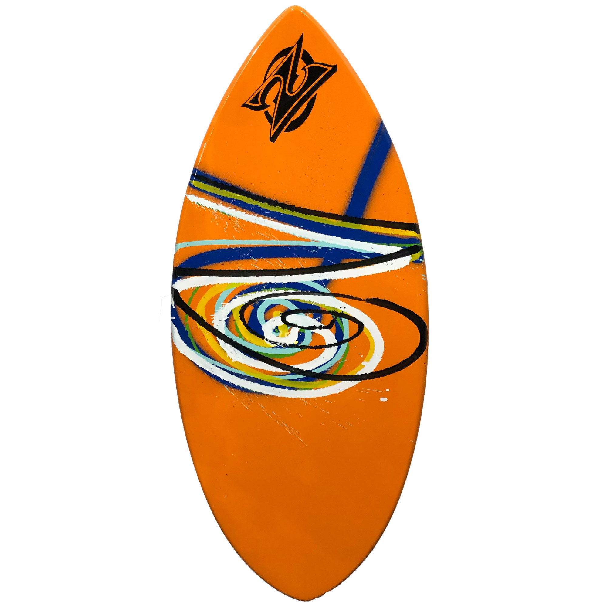 "Zap Wedge 45"" Skimboard - Orange w/ Multi Swirl"