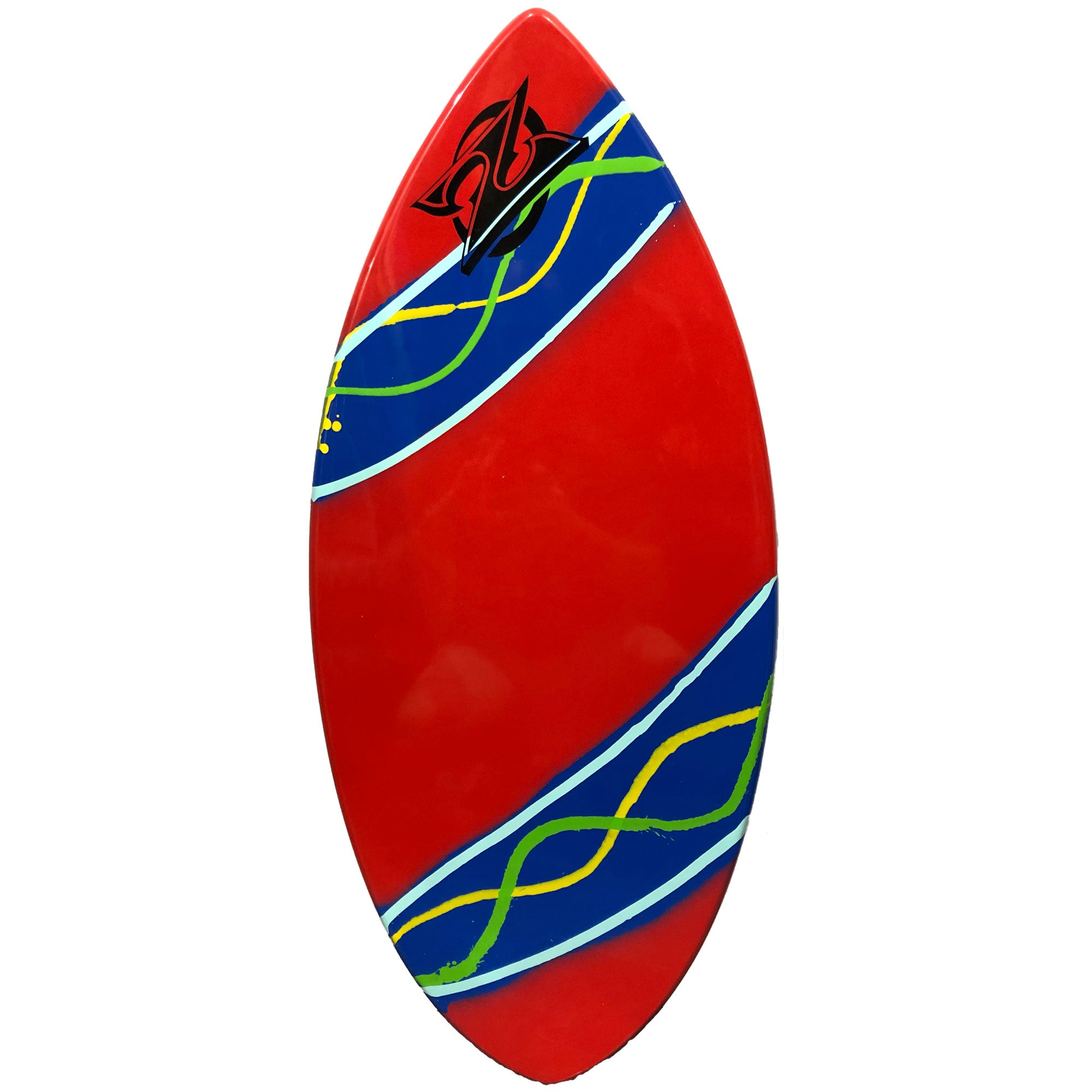 "Zap Wedge 45"" Skimboard - Red w/ Blue Stripes"