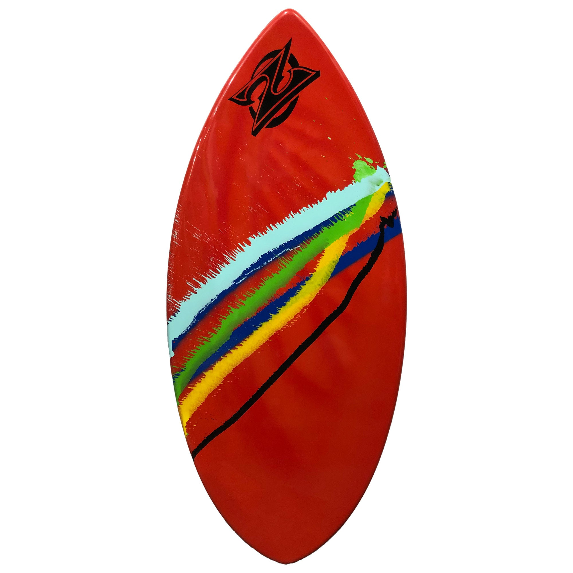 "Zap Wedge 45"" Skimboard - Red w/ Multi Stripes"