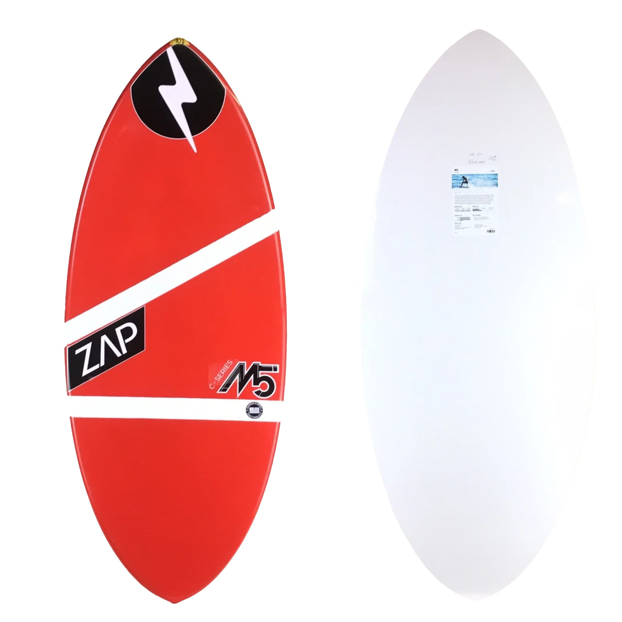 "Zap M5 51"" Skimboard - Red / White Stripes"