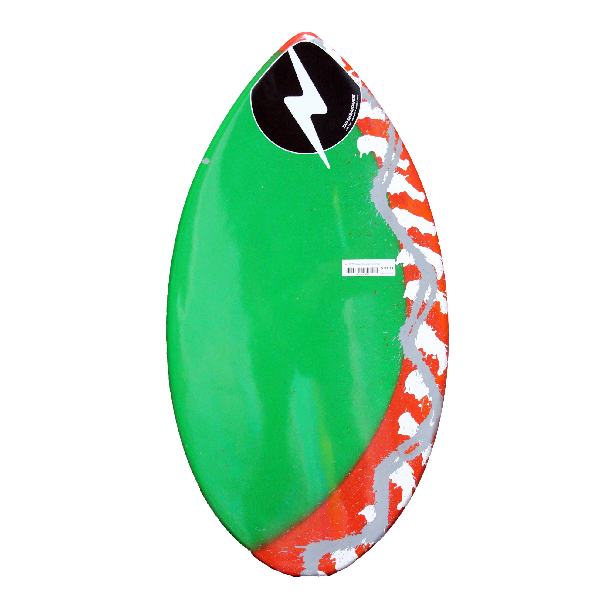 "Zap 35"" Mini Lazer Skimboard - Red/Green"