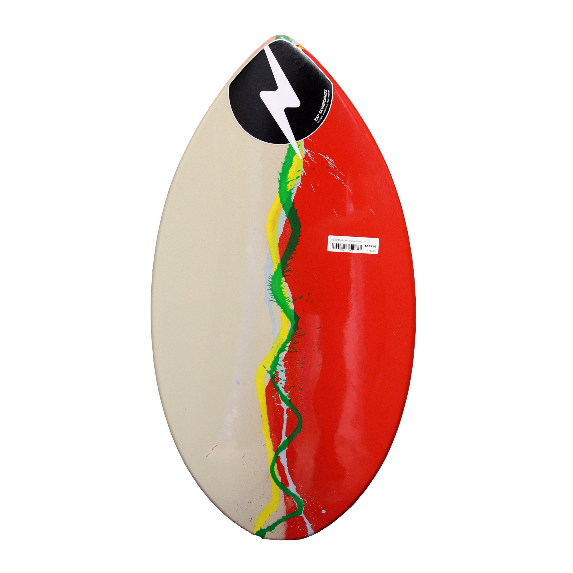 "Zap 35"" Mini Lazer Skimboard - Red/Tan"