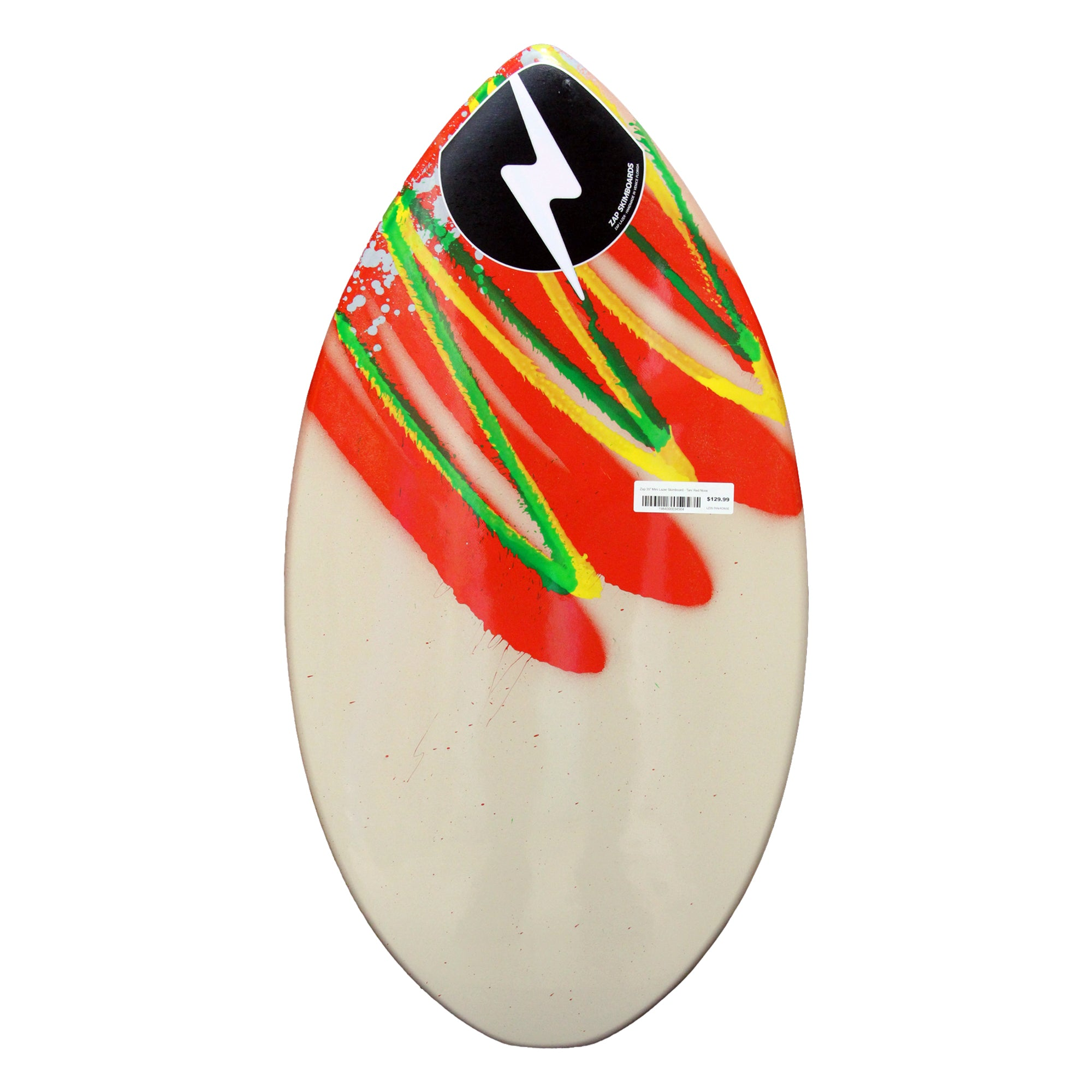 "Zap 35"" Mini Lazer Skimboard - Tan/Red Nose"