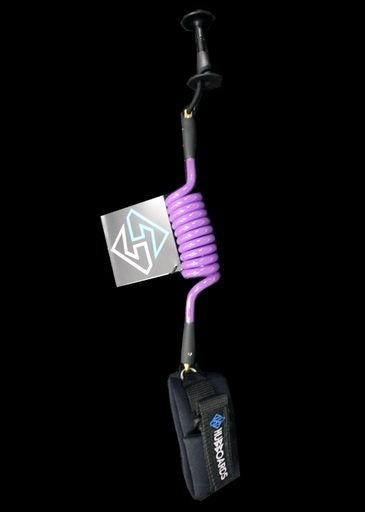 Hubboards Comp Bicep Leash, Purple, OS