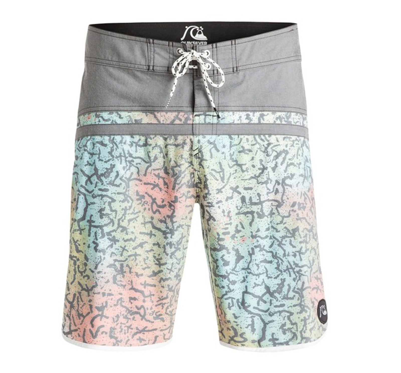 "Quiksilver Stompcracked Scallop 20"" Men's Boardshorts"