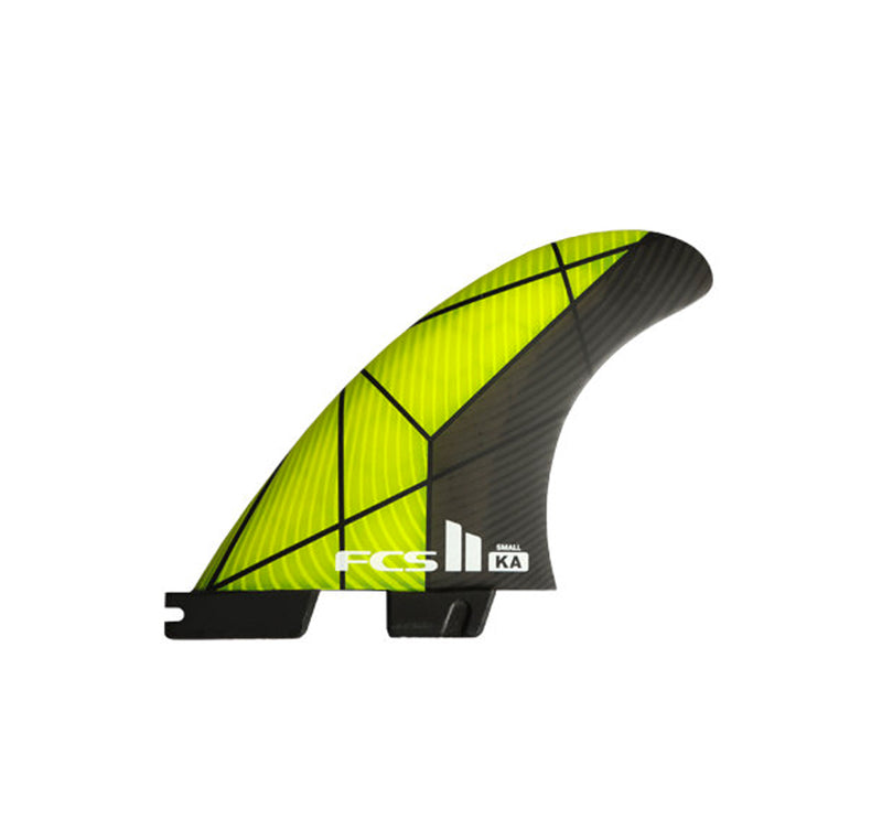 FCS II KA Performance Core Small Tri Fin Set - Yellow/Grey