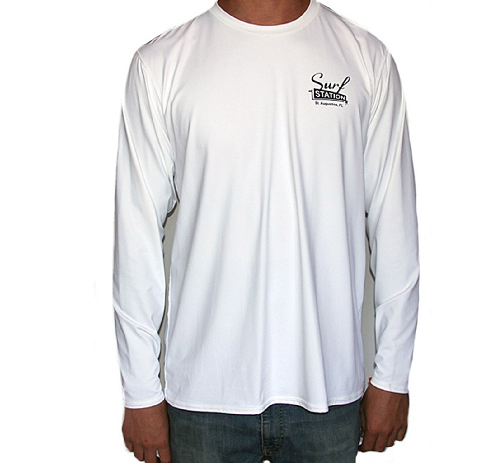 Surf Station Vegas Logo Men's Vented Back L/S Rashguard