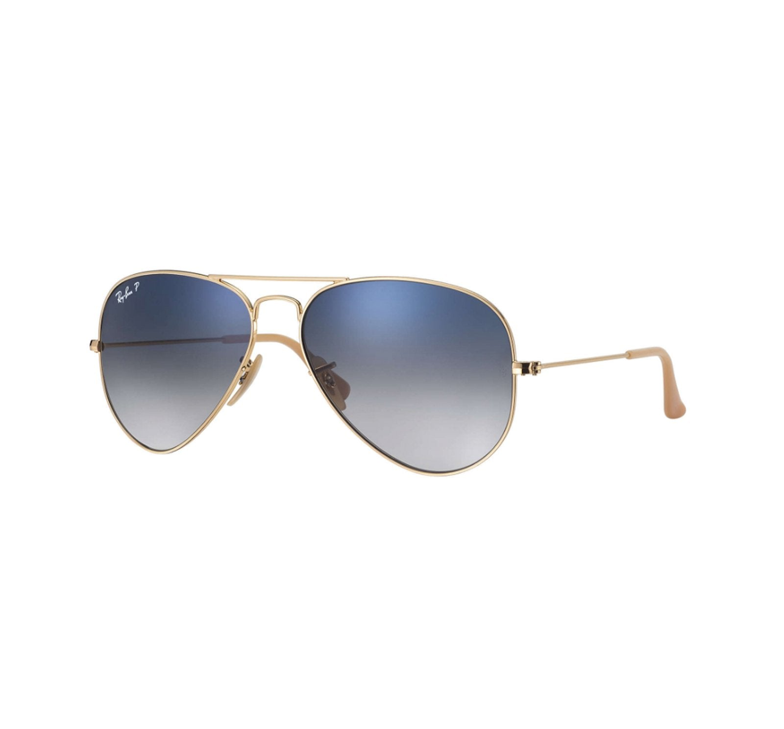 Ray-Ban Aviator Men's Sunglasses - Gold Metal/Gradient Blue