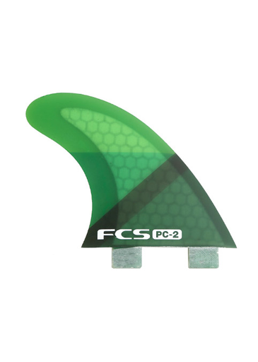 FCS PC-2 Tri Fin Set - Green Slice