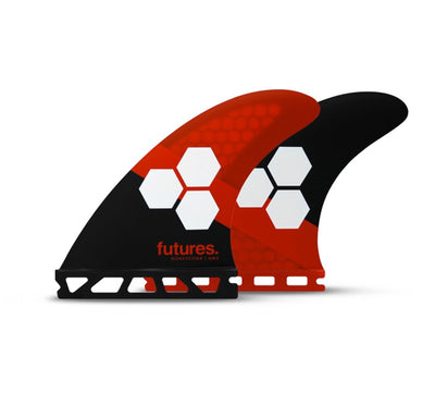 Futures AM3 HC Small Thruster Fin Set - Red/Black