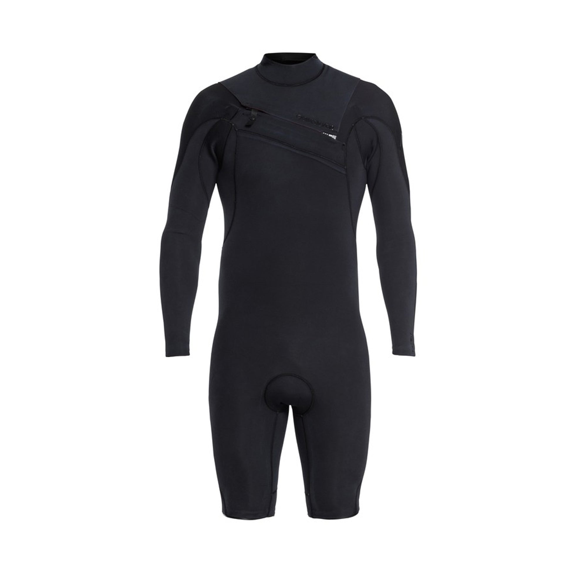 Quiksilver Men's 2/2mm Highline Limited Long Sleeve Chest Zip Springsuit Black Front