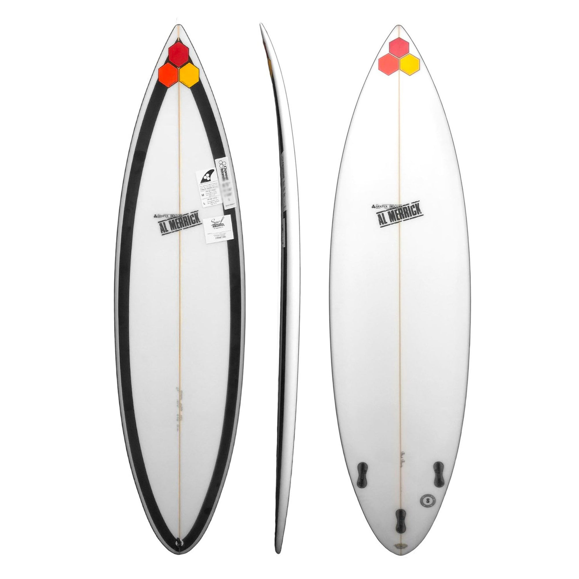 Channel Islands Black Beauty Surfboard FCS II