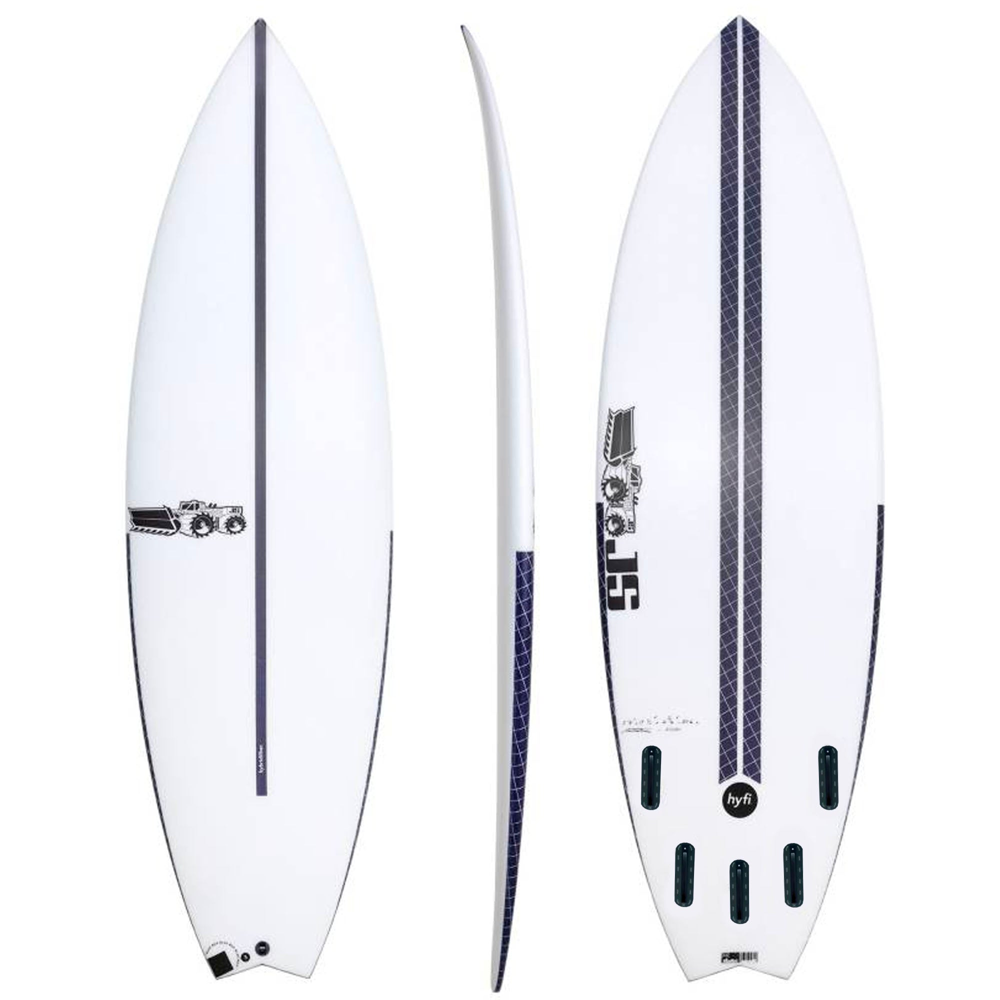 JS Blak Box 3 Swallow HYFI Surfboard - Futures