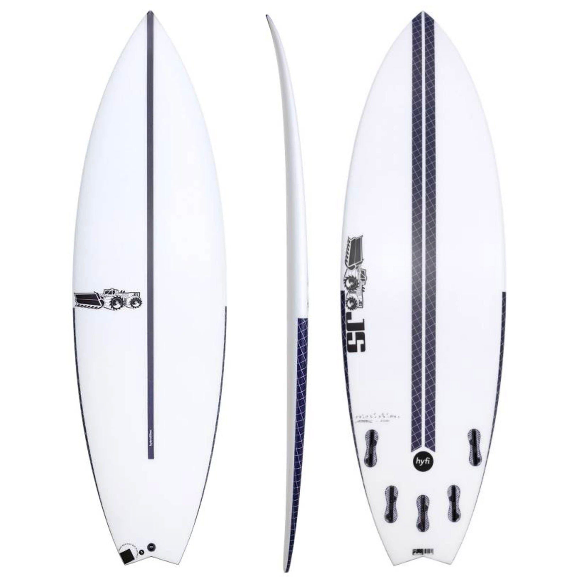 JS Blak Box 3 Swallow HYFI Surfboard - FCS II