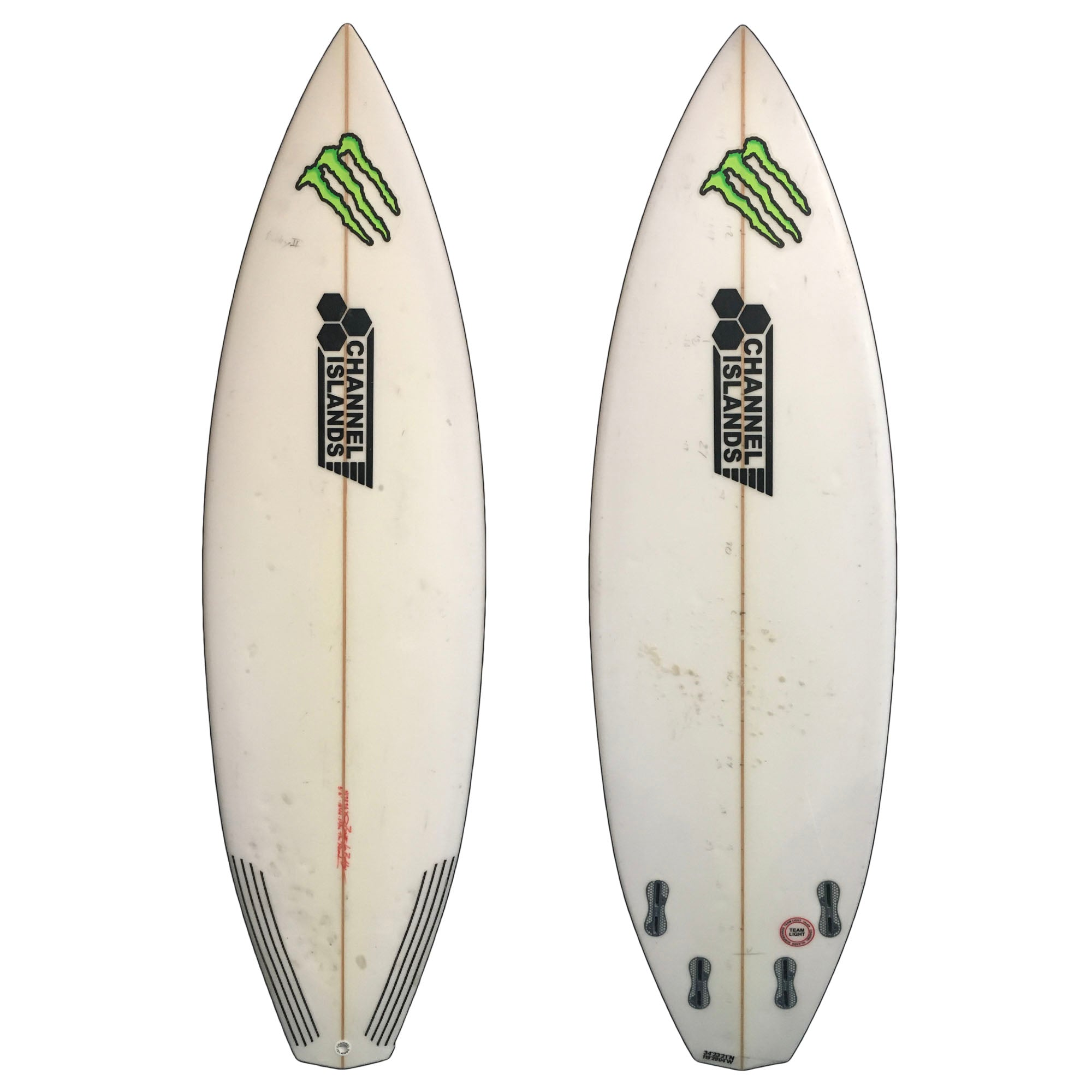 Channel Islands Proto 5'8 Used Surfboard (Team custom for Bobby Martinez)