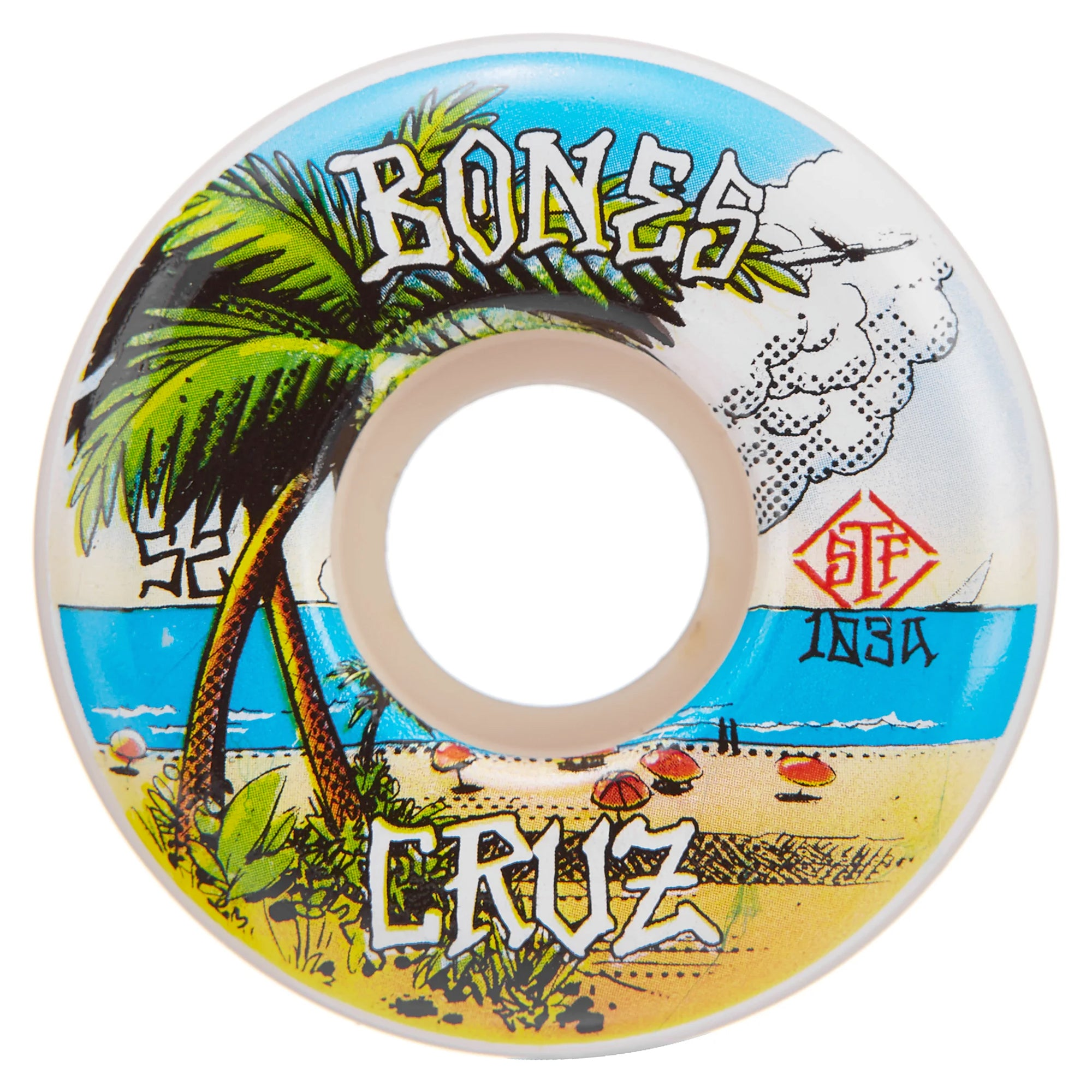 Bones Cruz Buena Vida STF V2 103a 52mm Wheels
