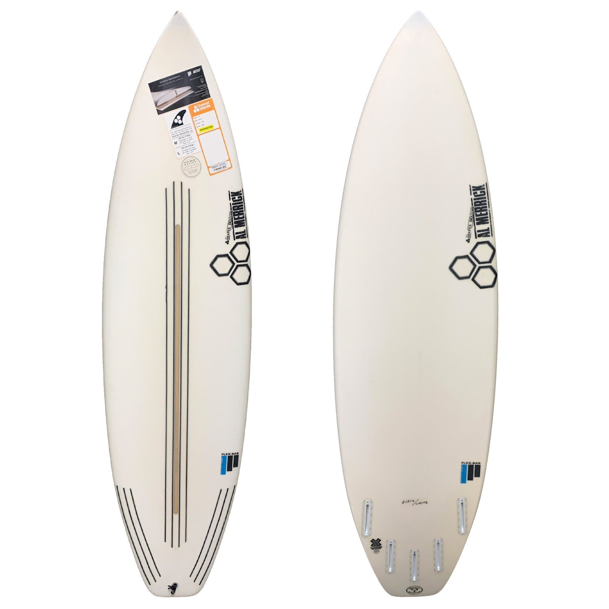 Channel Islands Black & White Flexbar Surfboard