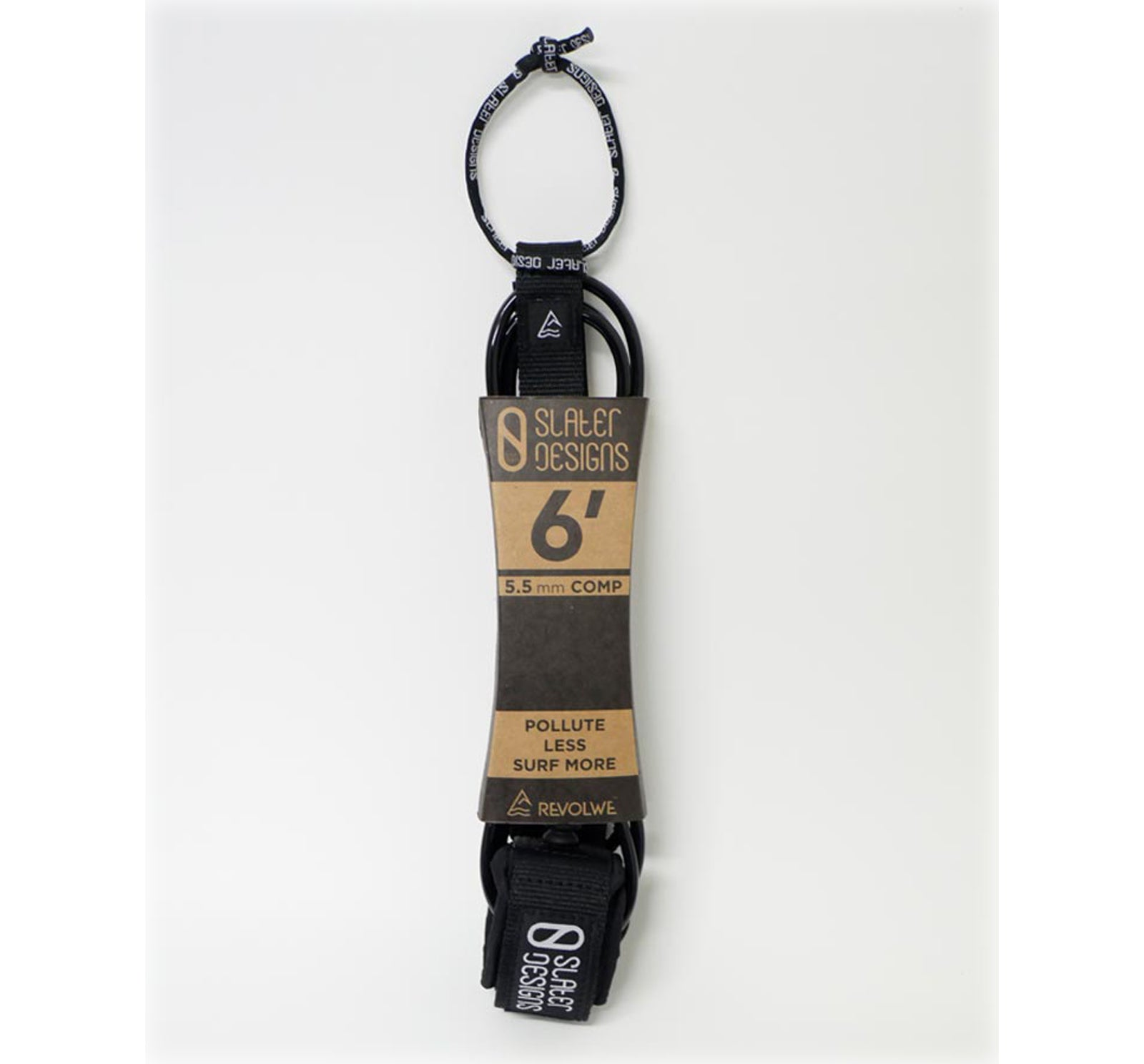 Slater Designs Comp 6' Surfboard Leash - Black