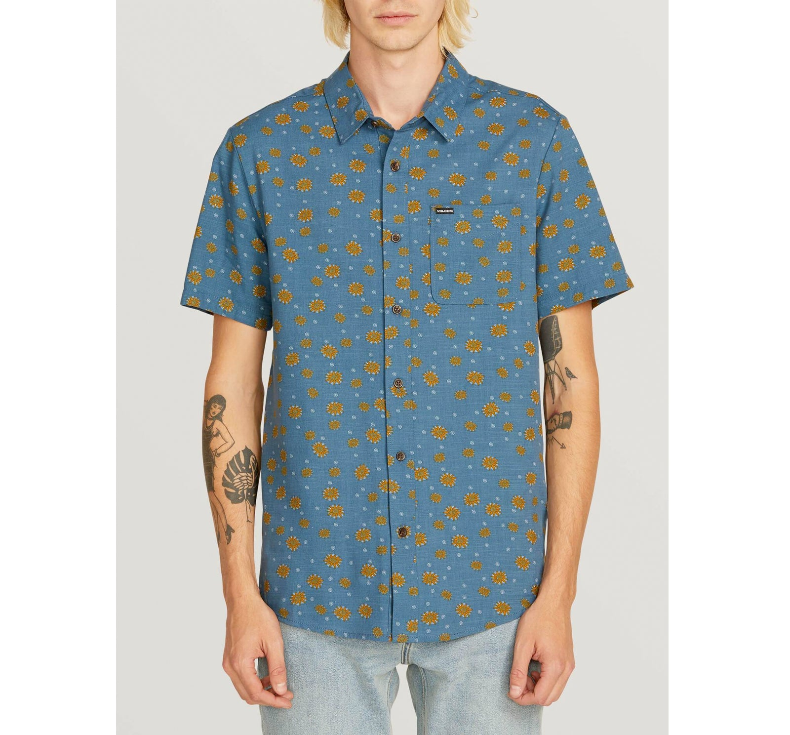 741a9ce2 Volcom Psych Dot Men's S/S Woven - Surf Station Store