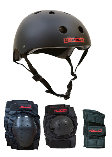 Airwalk Complete Skate Protection Helmet and Pads Set
