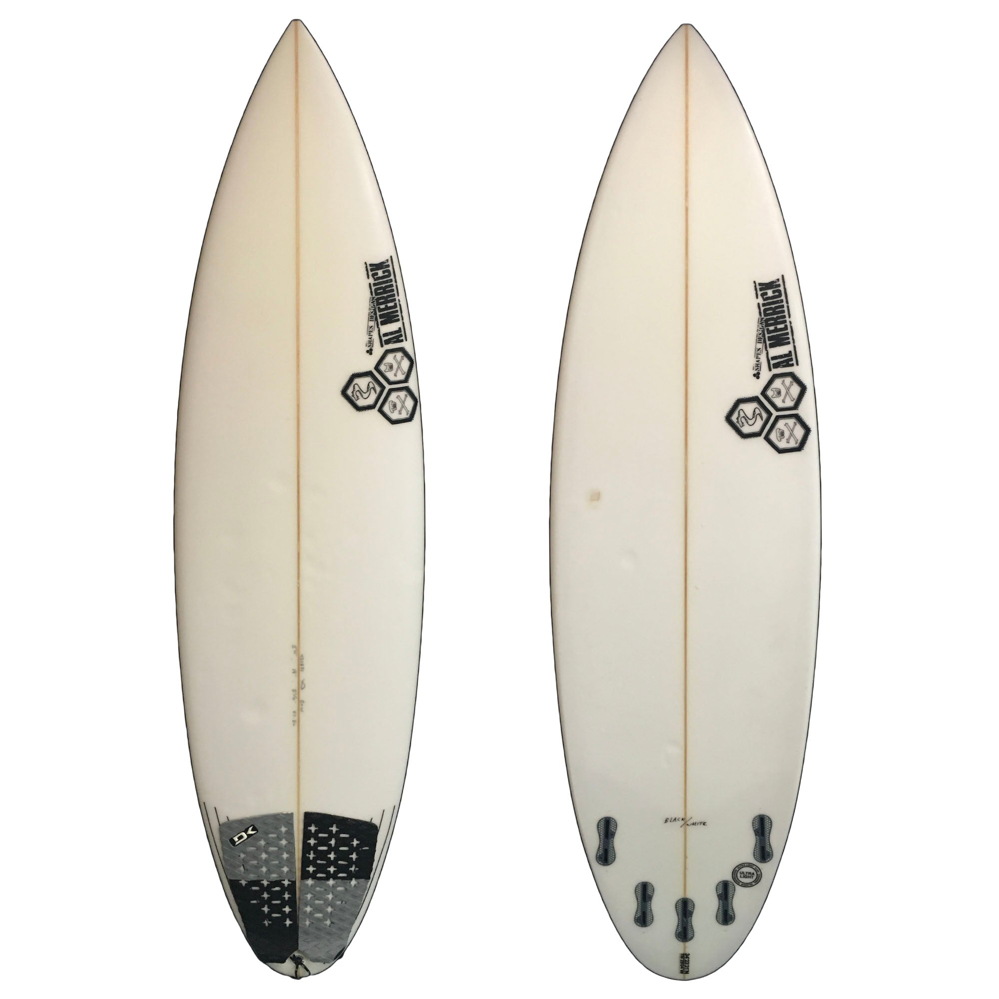 Channel Islands Black and White 5'11 Used Surfboard